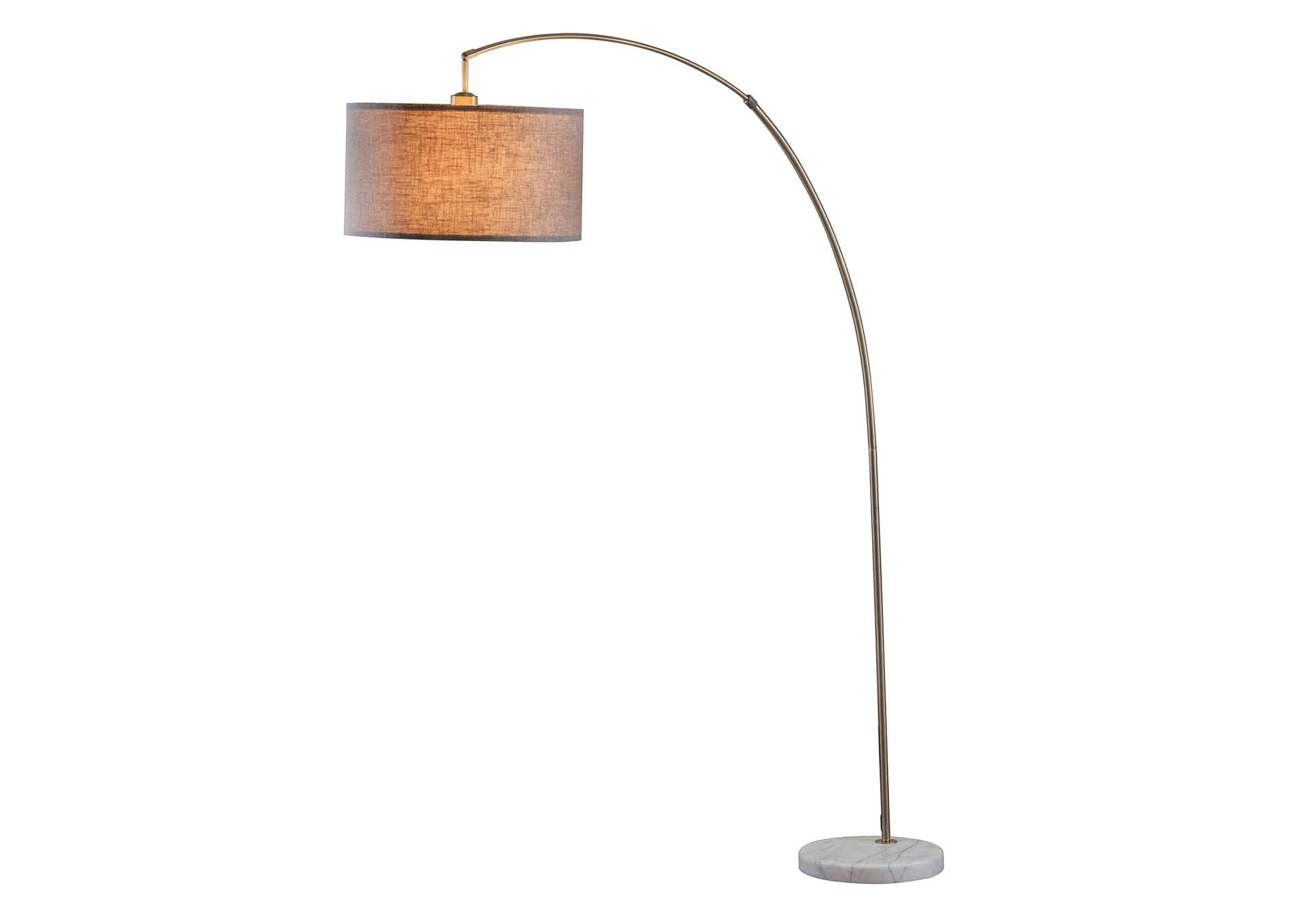 Cagney Antique Brass/Marble Floor Lamp,Acme