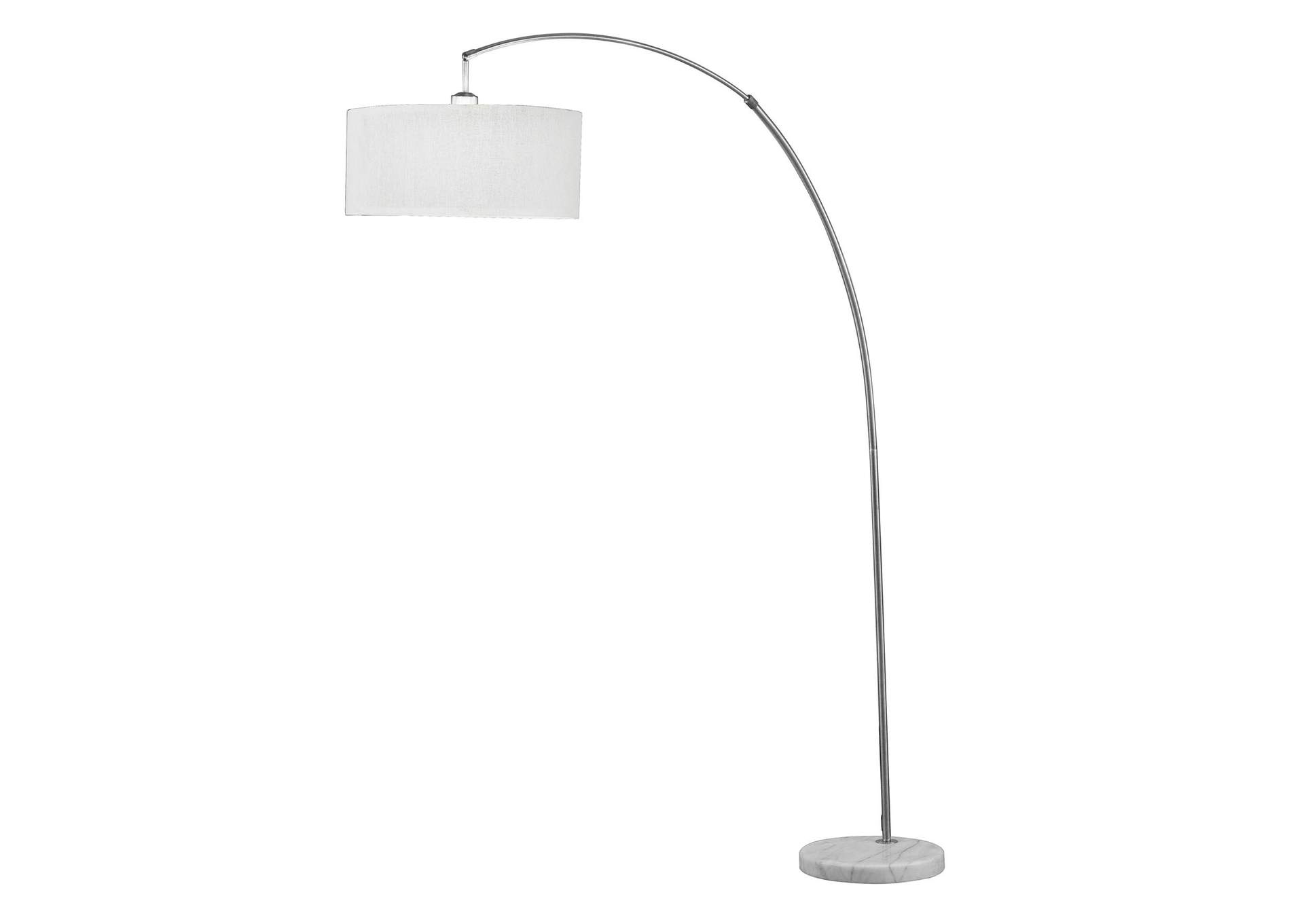 Cagney Brushed Nickel & Marble Floor Lamp,Acme