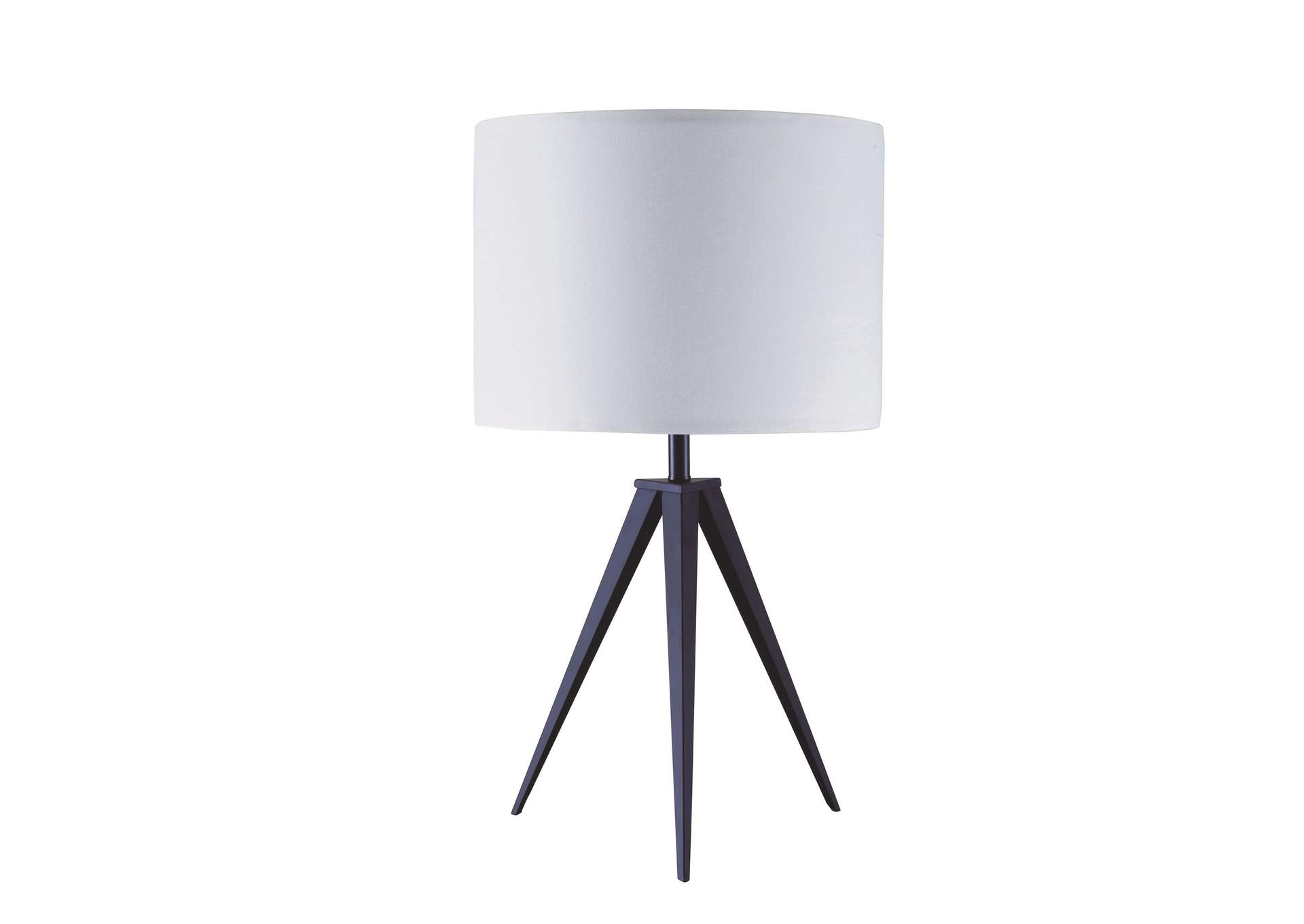 Glynn White/Black Table Lamp,Acme