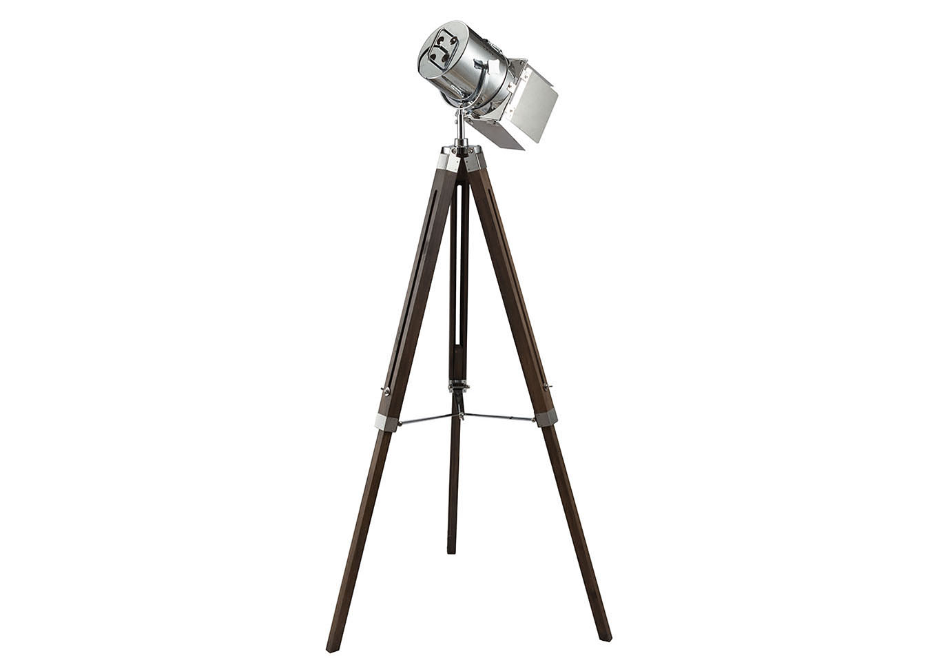 Hollywood Antique Oak/Chrome Floor Lamp,Acme