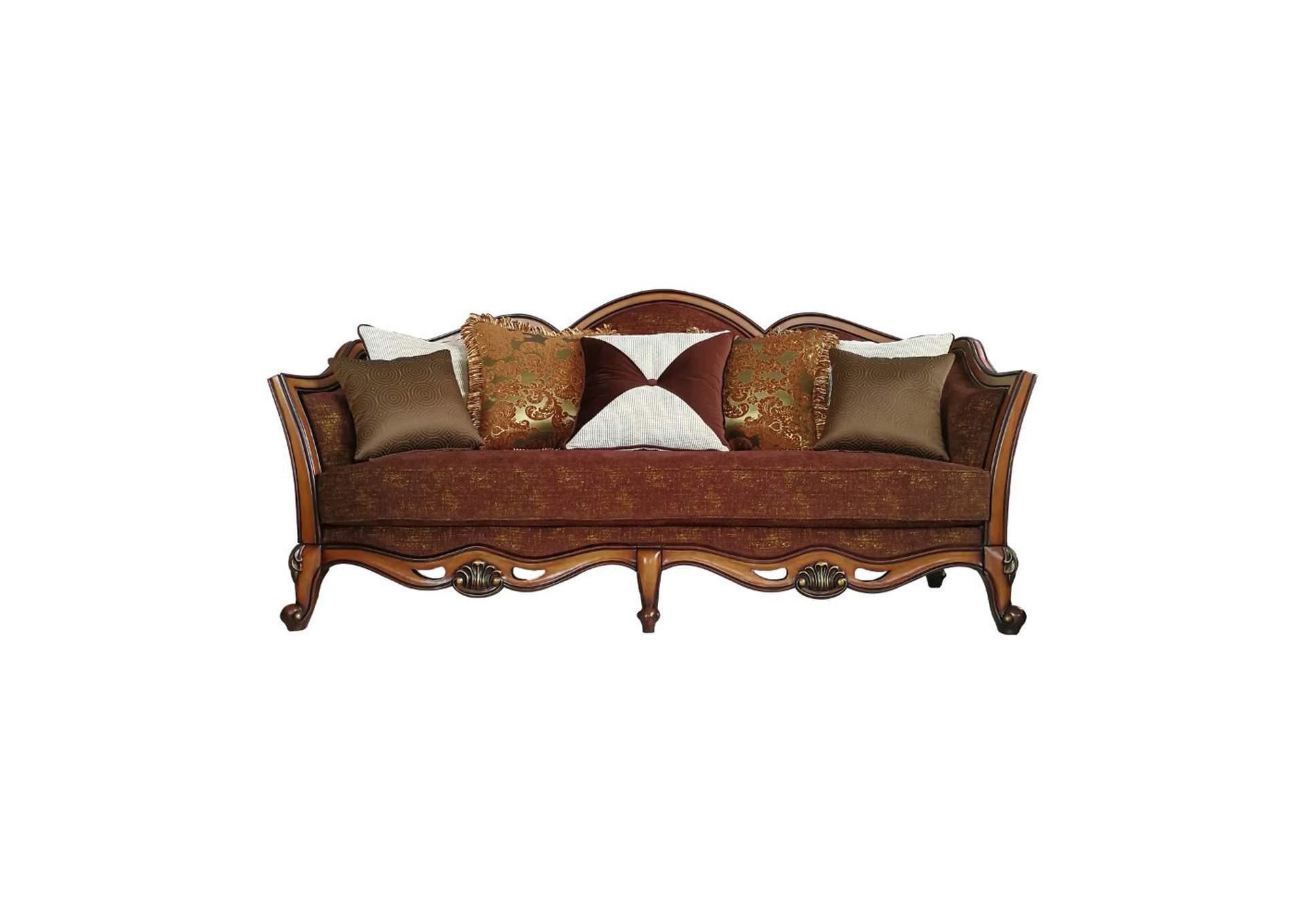 Beredei Fabric Antique Oak Sofa Squan Furniture