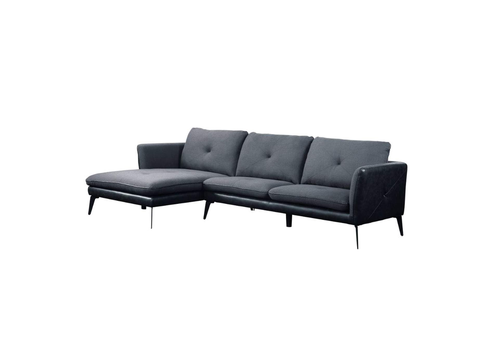 Harun Gray Sectional Sofa,Acme
