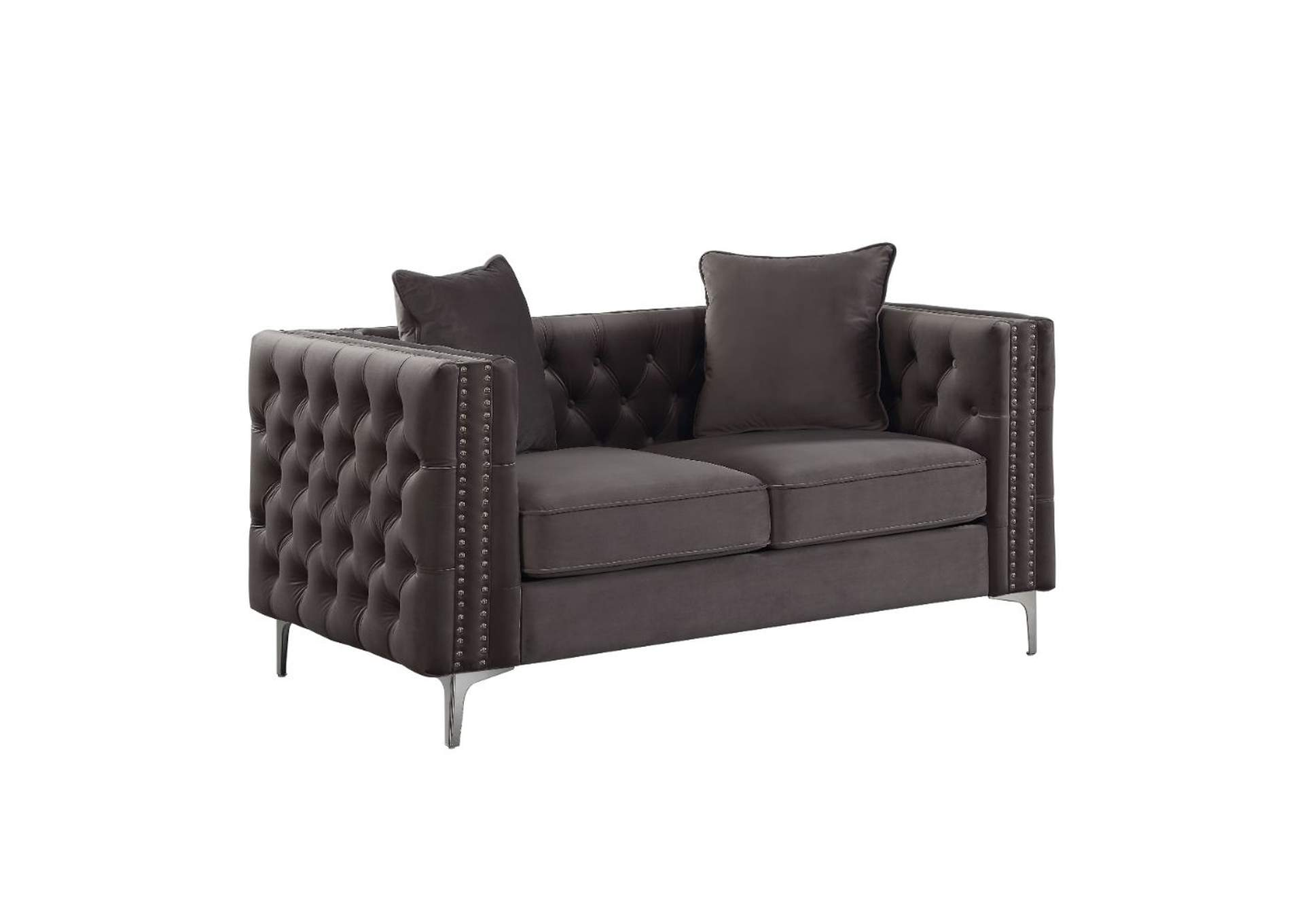 Gillian II Dark Gray Velvet Loveseat,Acme