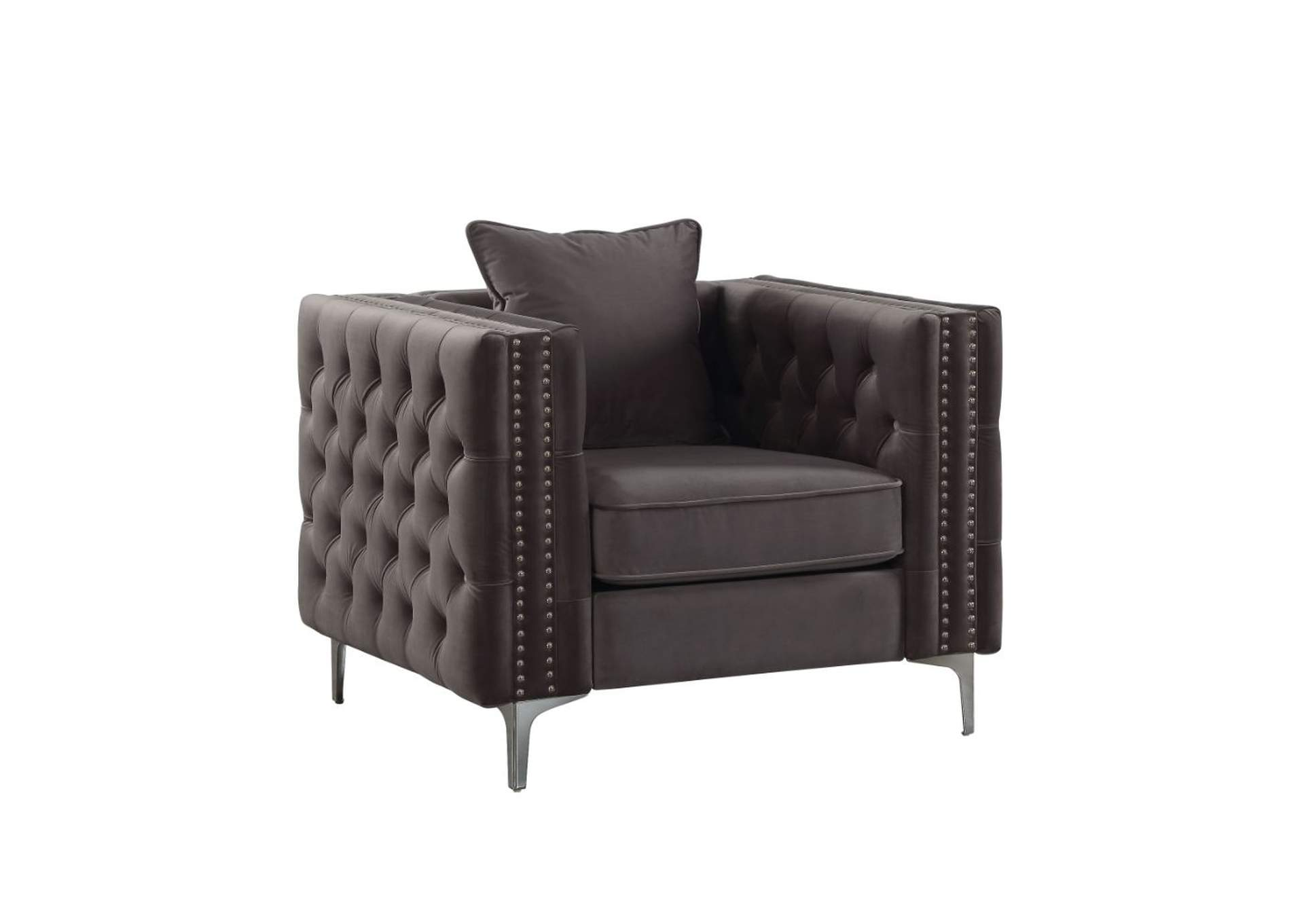 Gillian II Dark Gray Velvet Chair,Acme