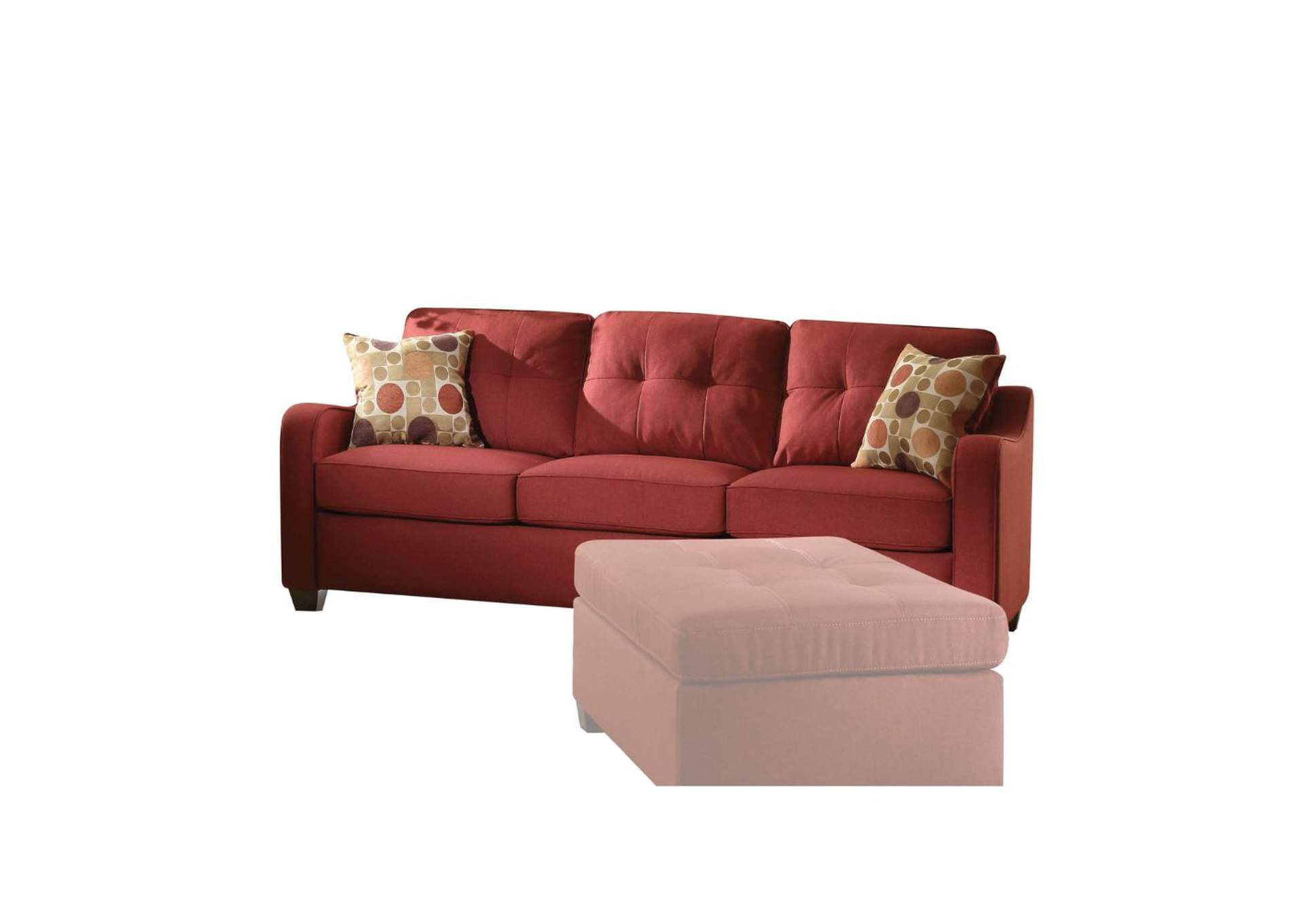 Cleavon II Red Sofa w/2 Pillow,Acme