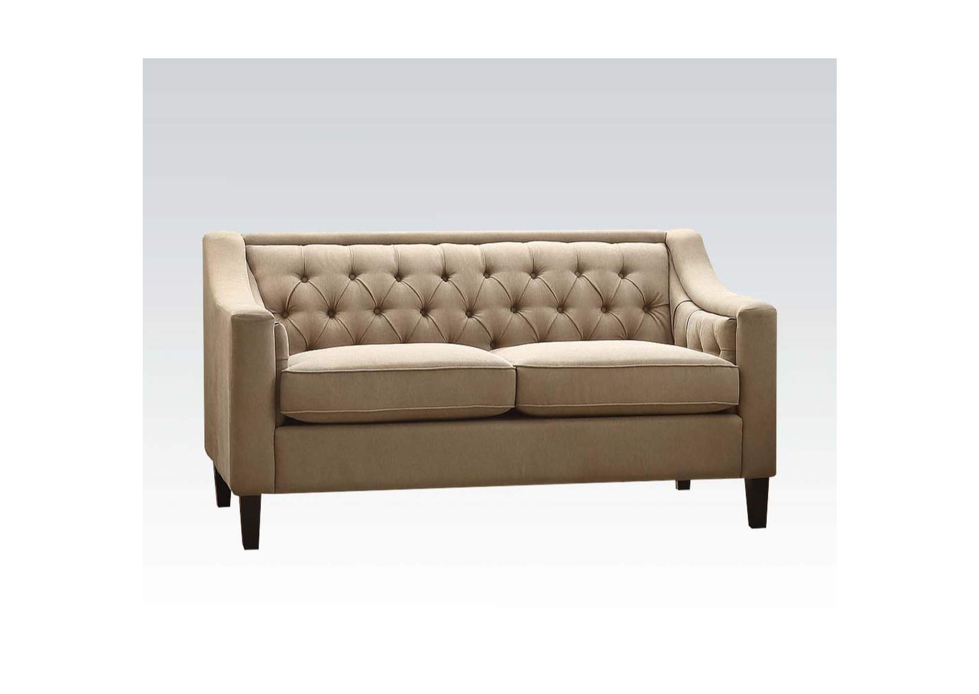 Suzanne Beige Fabric Loveseat,Acme