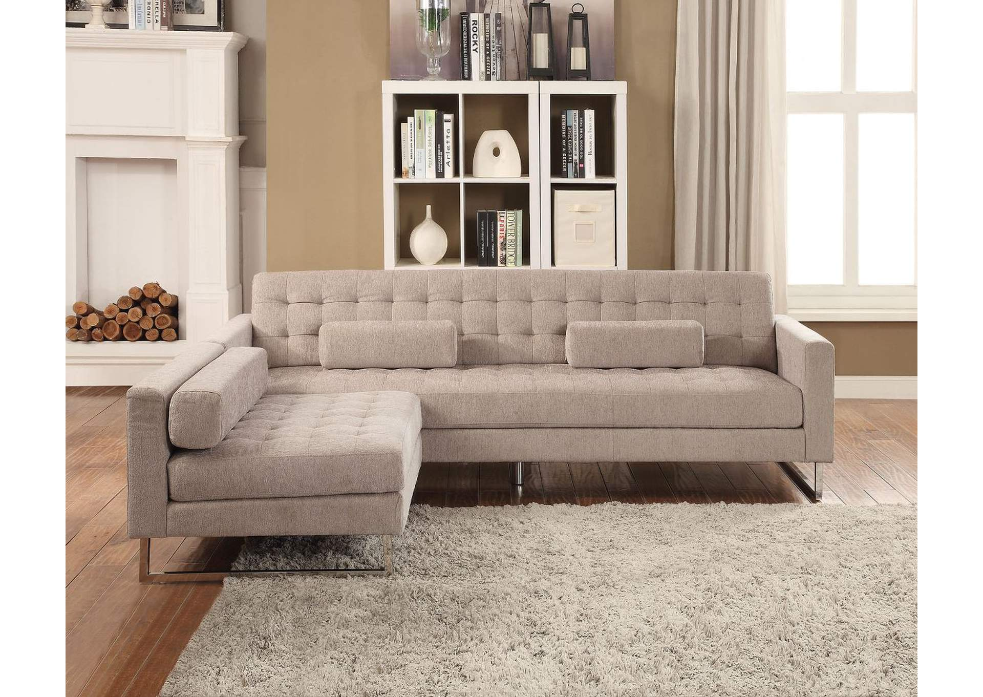 Sampson Beige Fabric Sofa,Acme