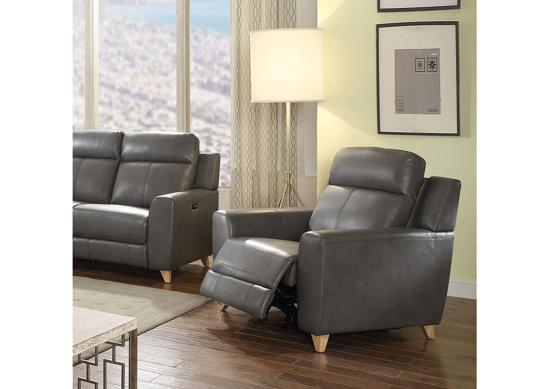 Cayden Gray Power Recliner,Acme