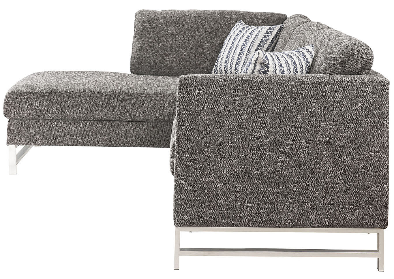 Varali Gray Linen Sectional Sofa,Acme