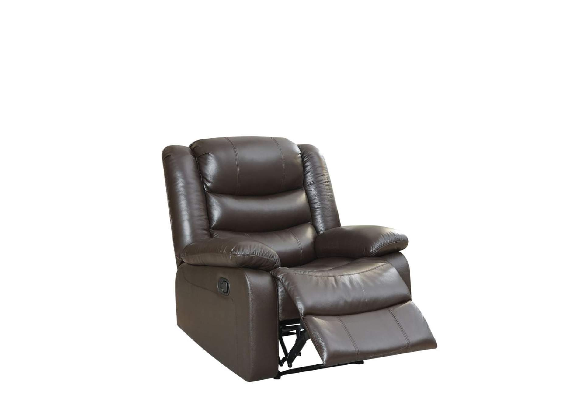 Fede Espresso Top Grain Leather Match Recliner,Acme