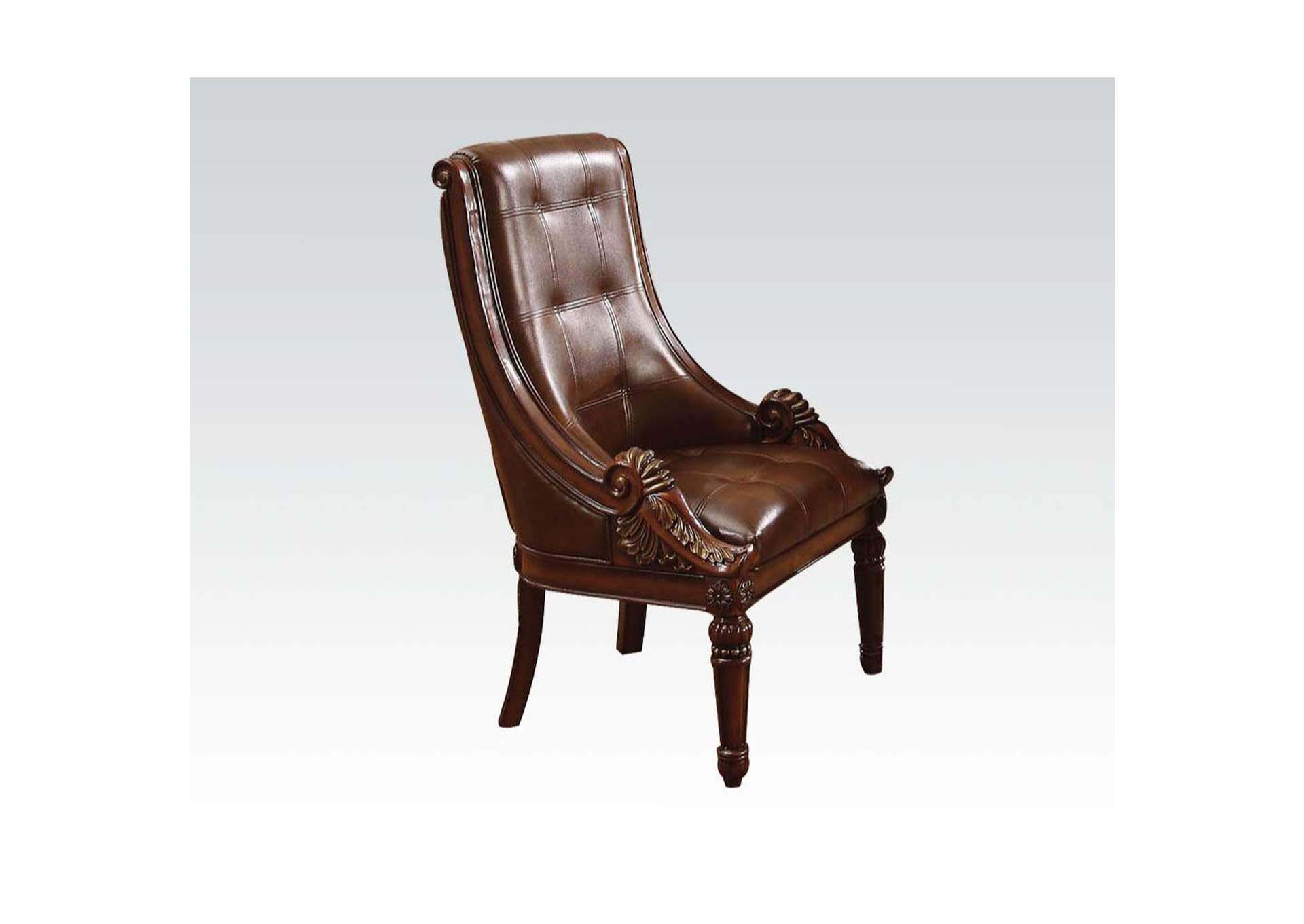Winfred PU & Cherry Side Chair,Acme