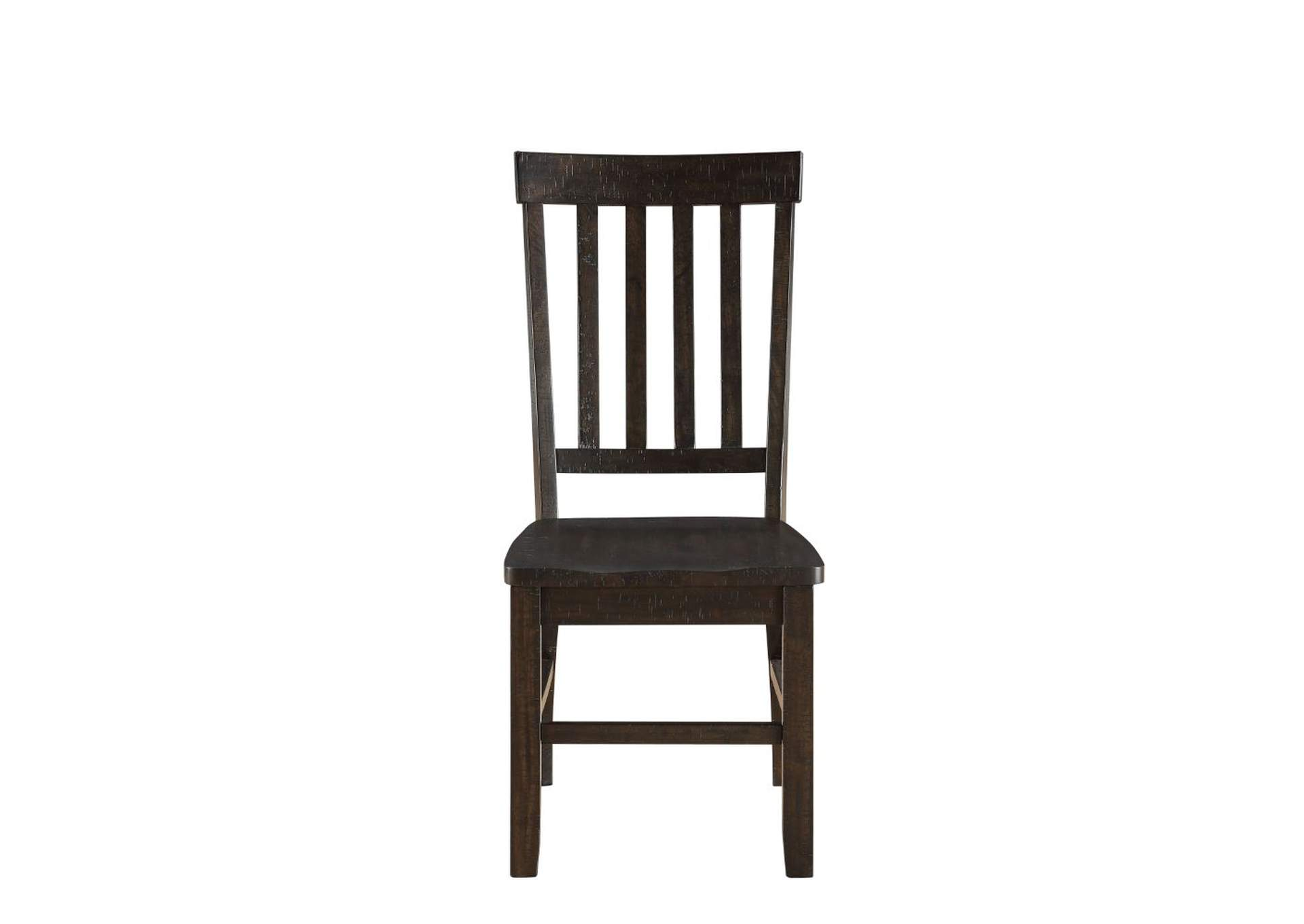 Maisha Rustic Walnut Side Chair (Set-2),Acme