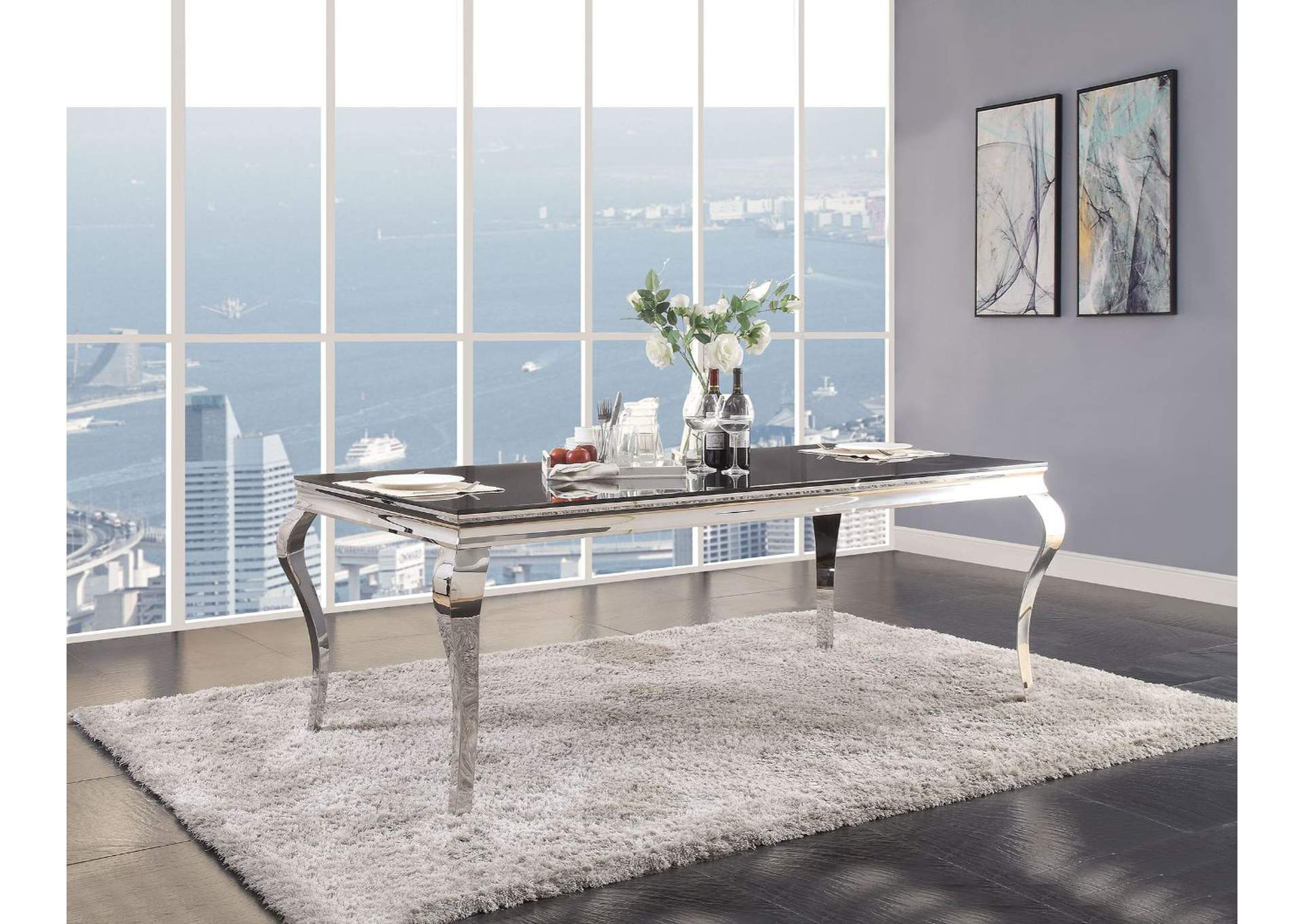 Fabiola Black Dining Table,Acme