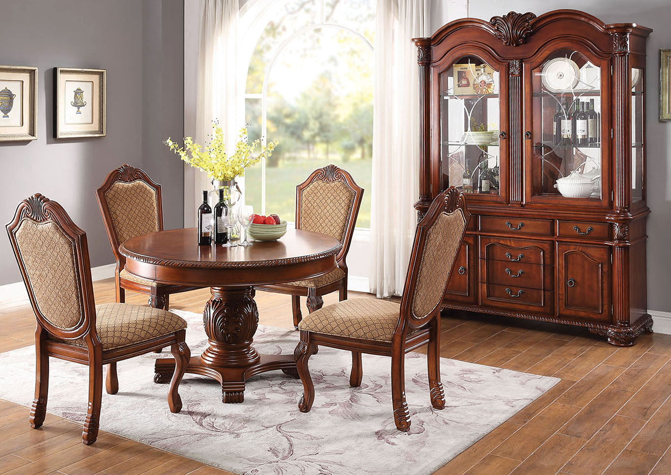 Chateau De Ville Cherry Side Chair (Set-2),Acme