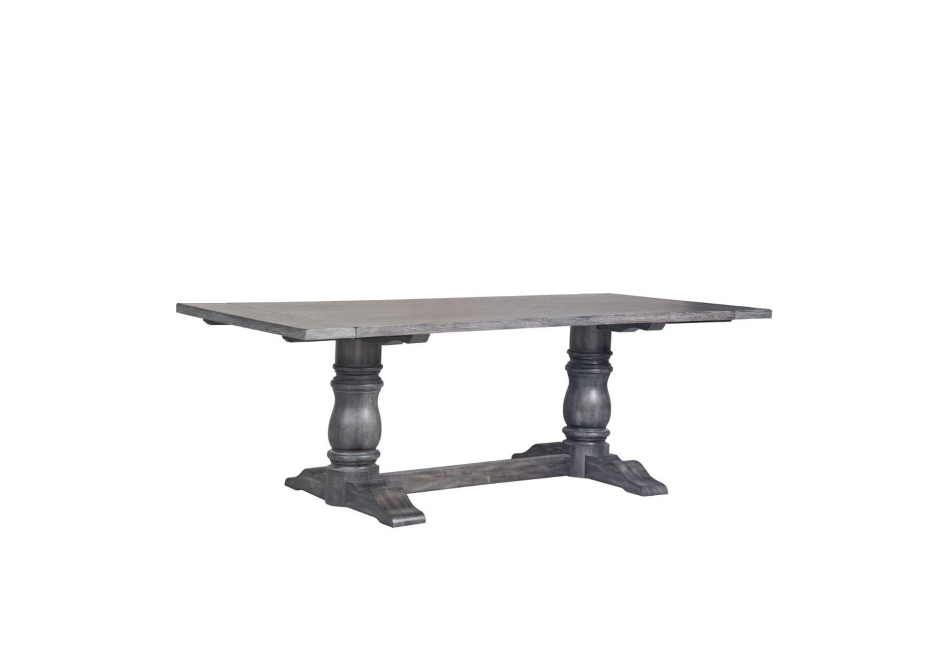 Leventis Weathered Gray Dining Table,Acme