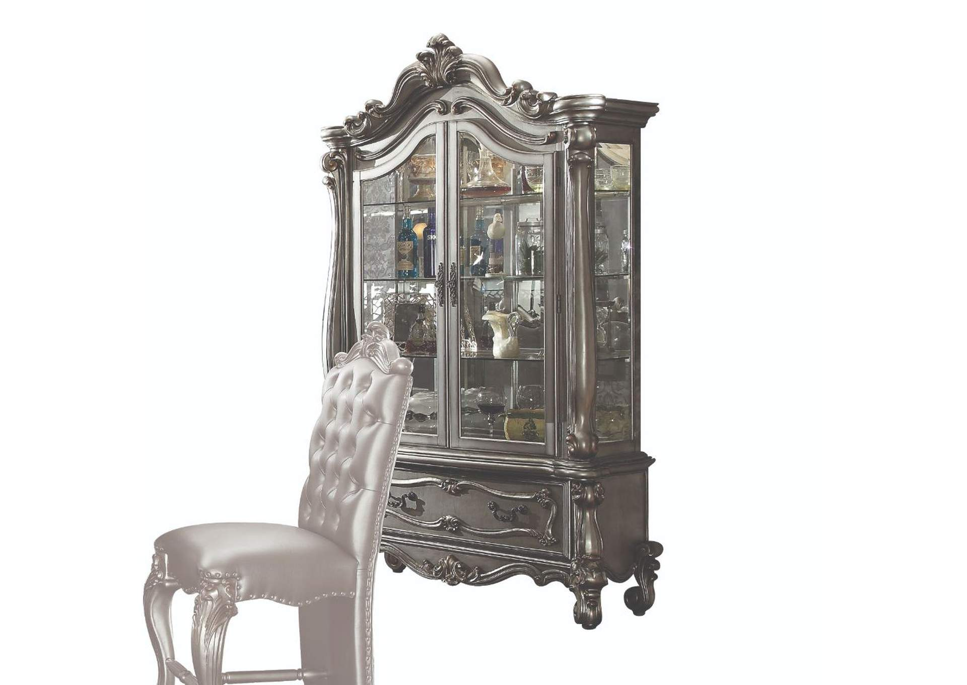 Versailles Antique Platinum Curio,Acme