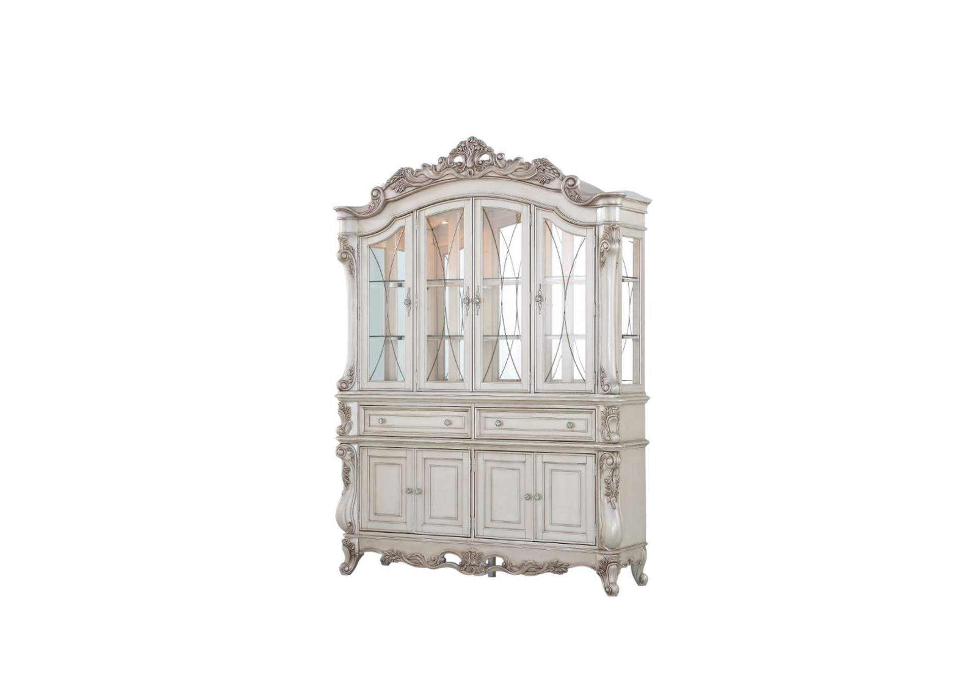 Gorsedd Antique White Hutch & Buffet,Acme