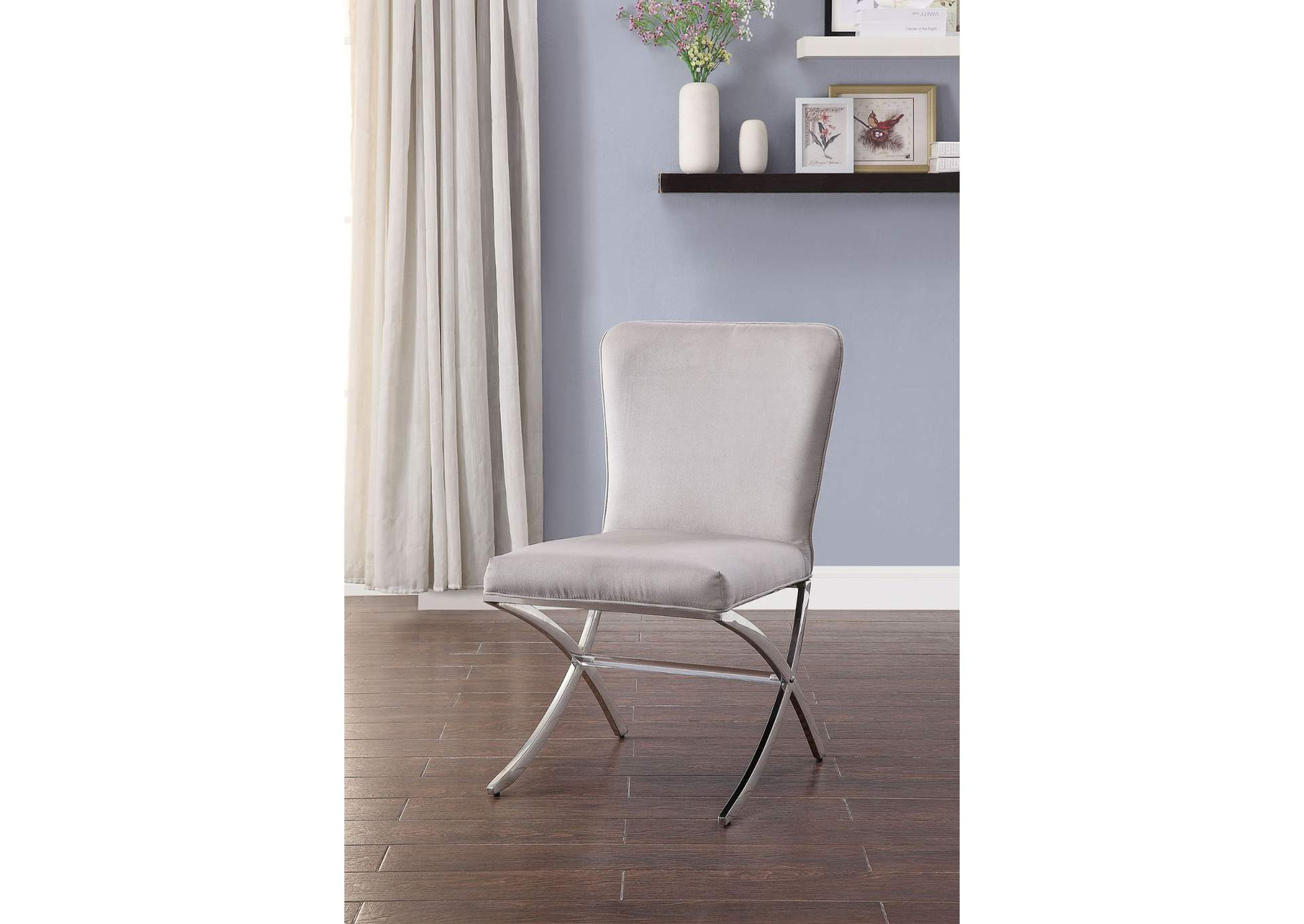 Daire Chrome Side Chair (Set of 2),Acme
