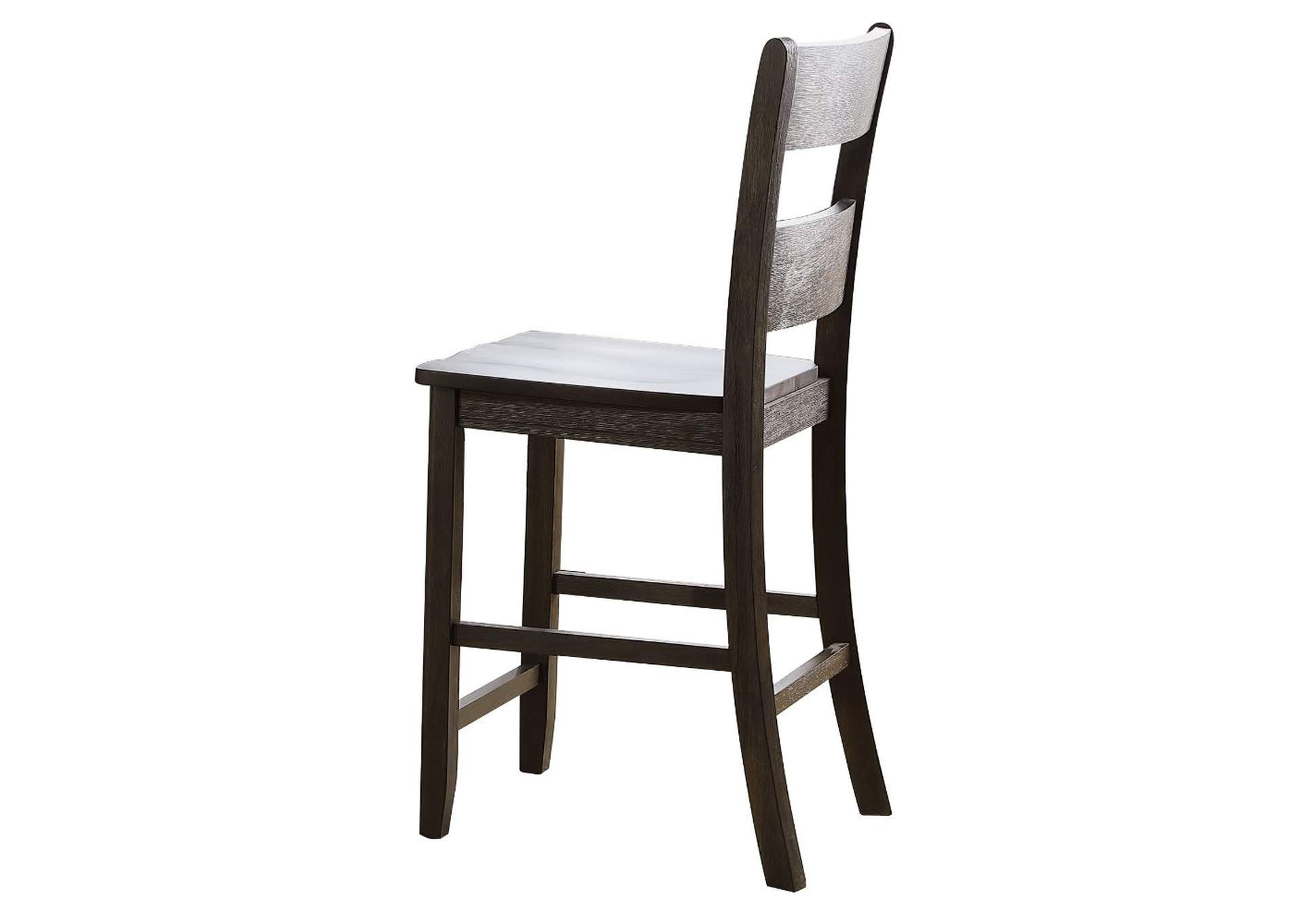 Haddie Distressed Walnut Counter Height Chair,Acme