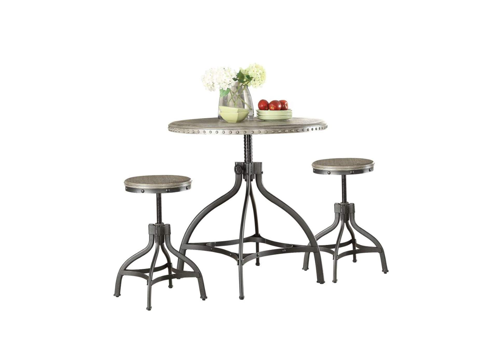 Fatima Counter Dining Set (Set of 3),Acme