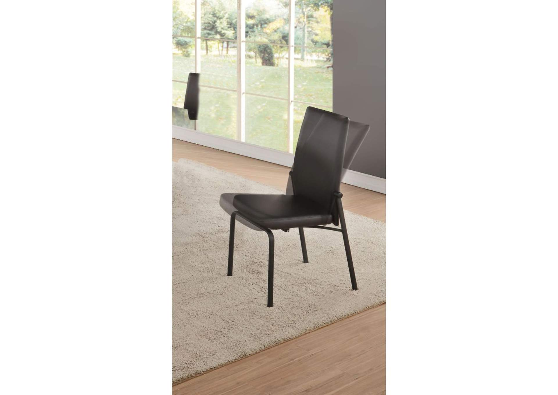 Osias Black/Black Side Chair (Set of 2),Acme