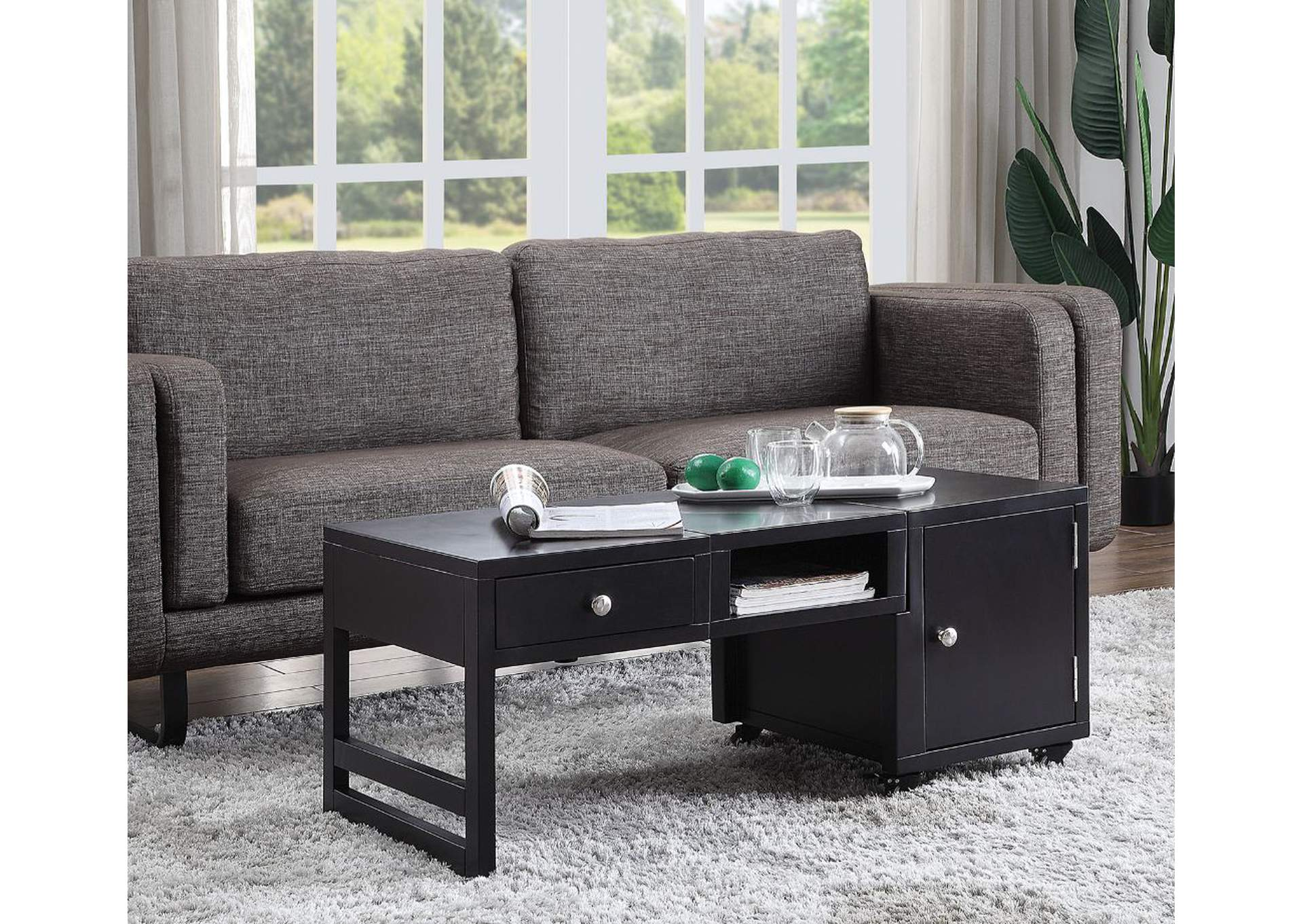 Machiko Black Coffee Table,Acme
