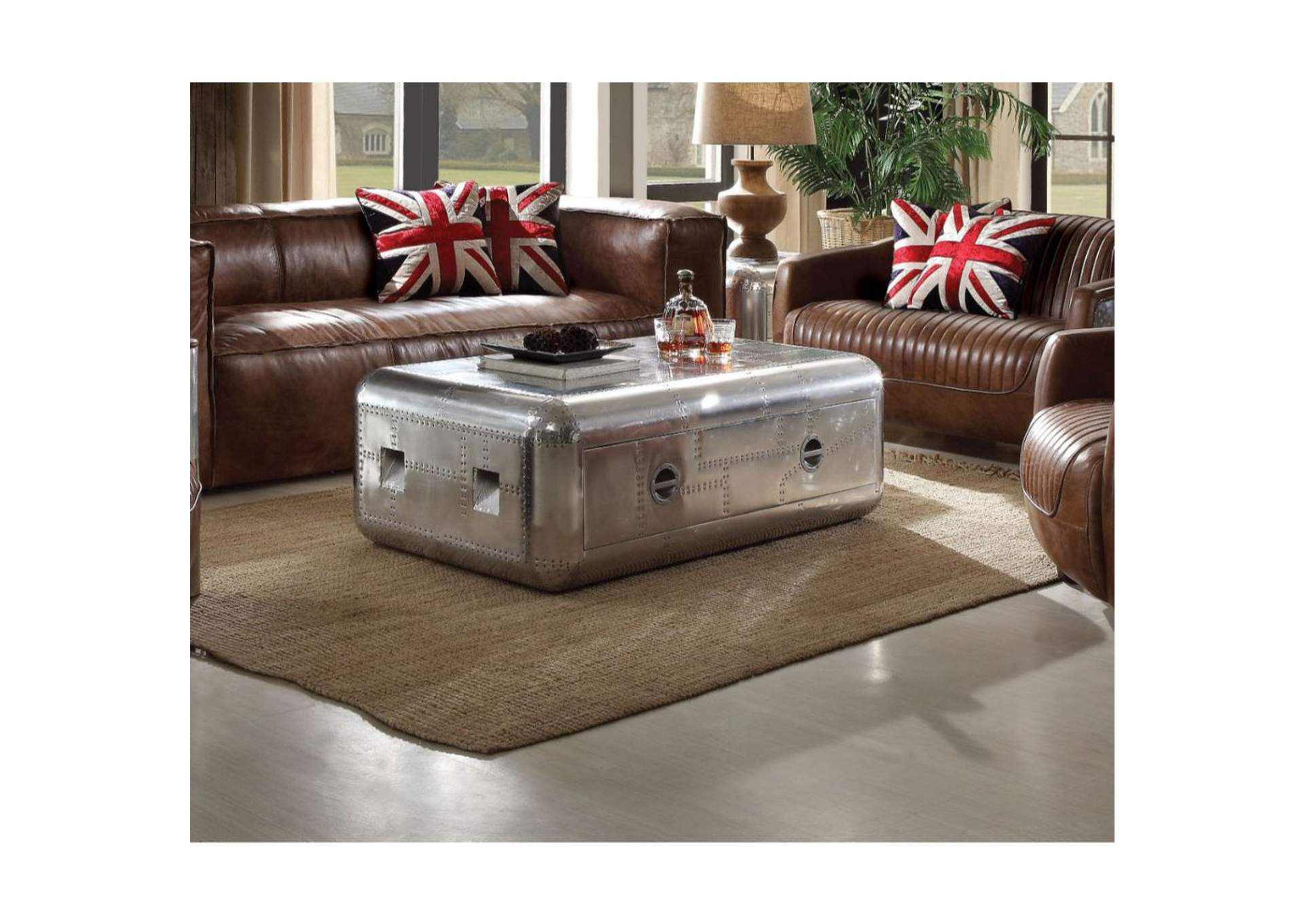Brancaster Aluminum Coffee Table,Acme