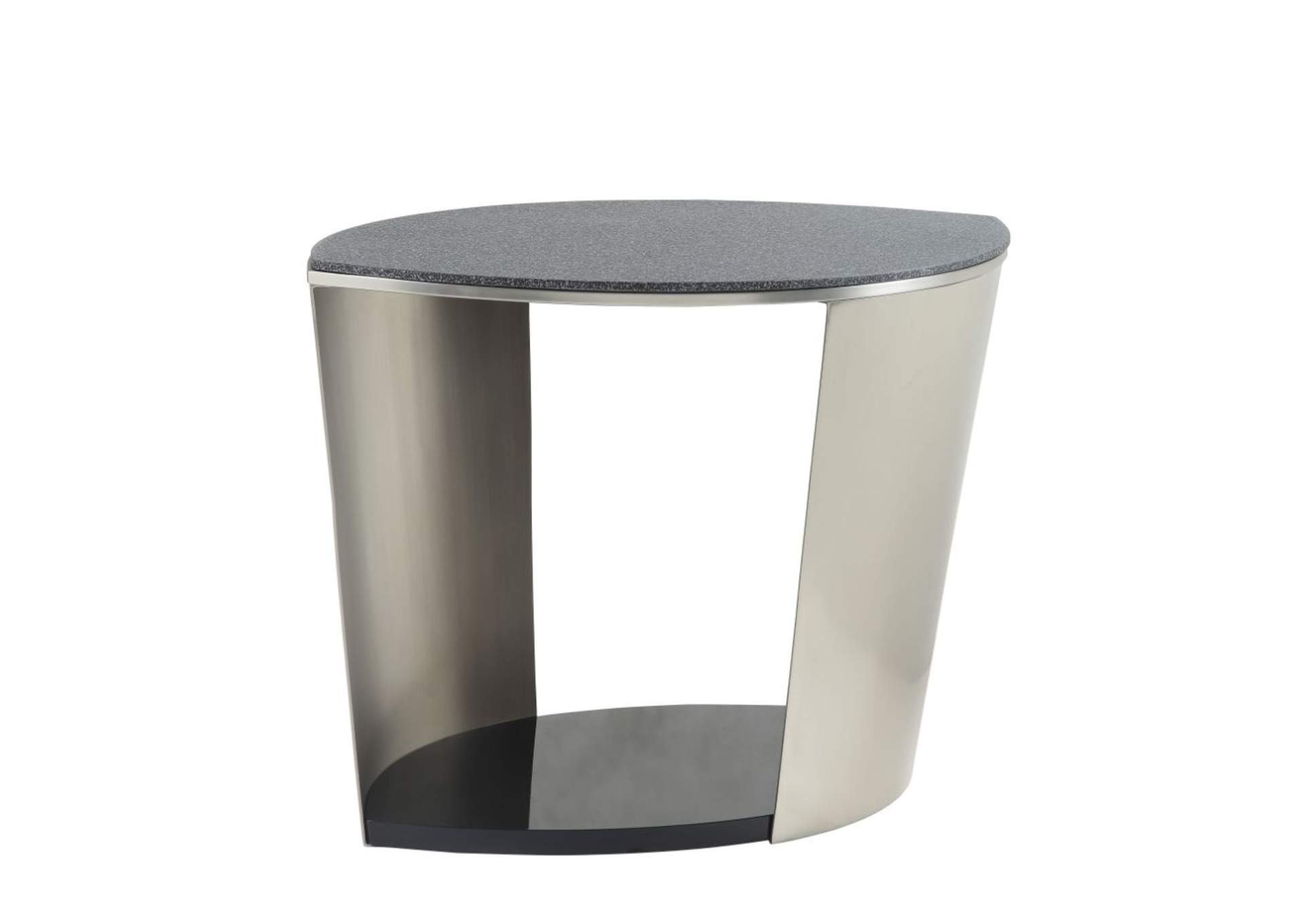 Thyge Satin Plated & Glass Stone End Table,Acme