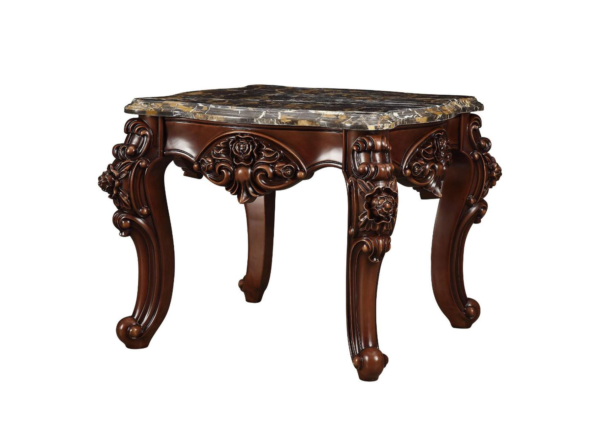 Forsythia Marble & Walnut End Table,Acme
