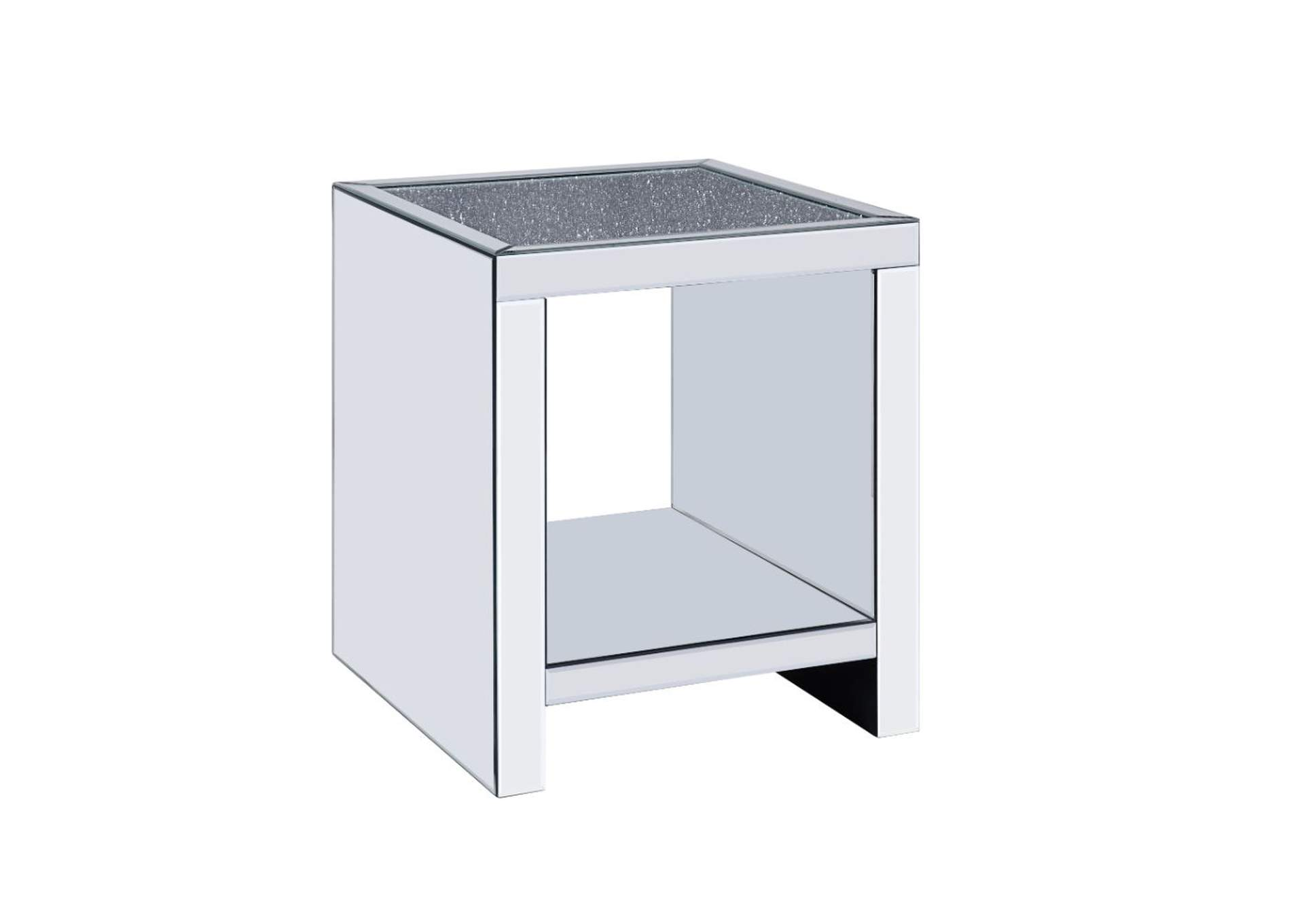 Malish Mirrored End Table,Acme