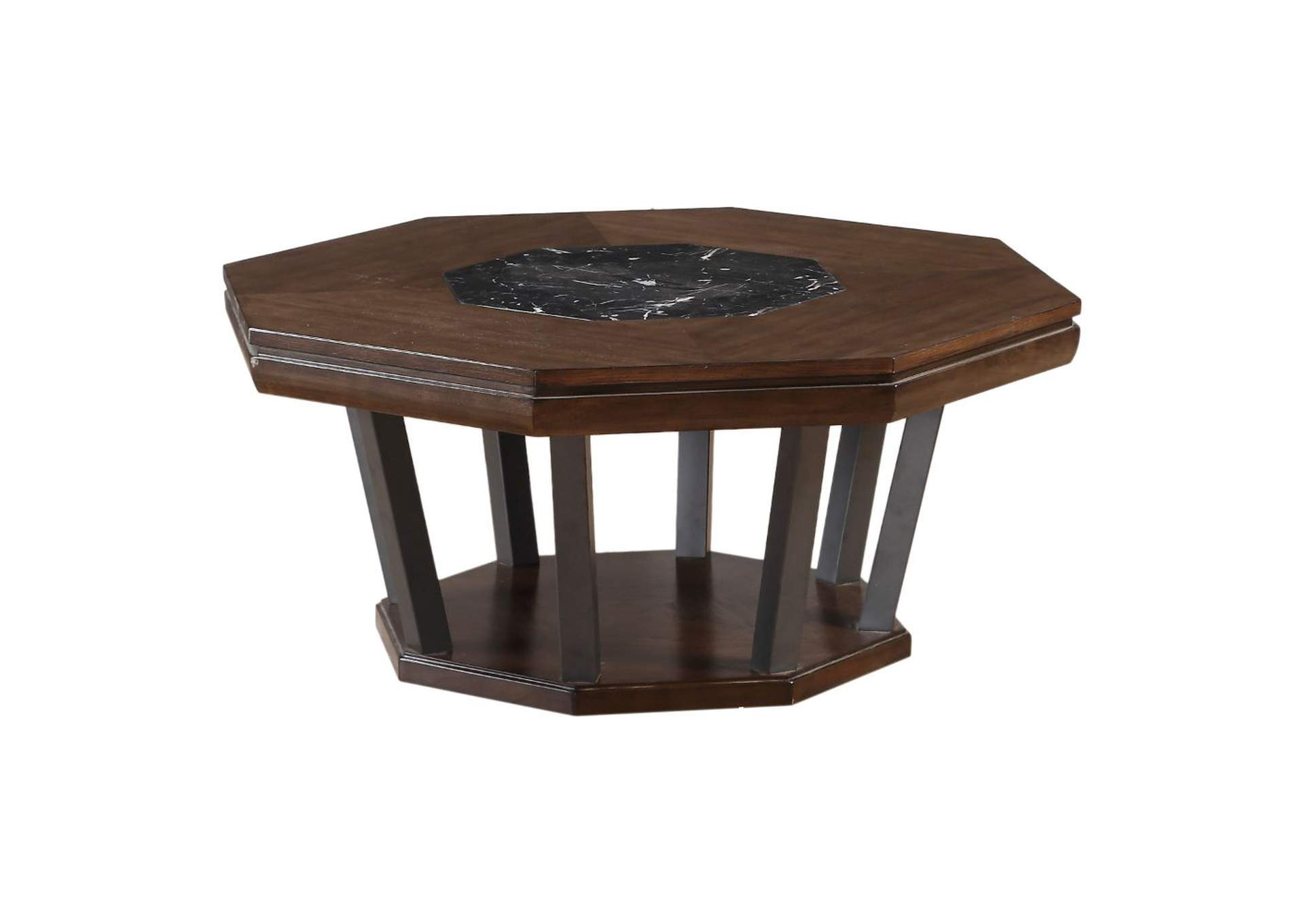 Selma Marble & Tobacco Coffee Table,Acme