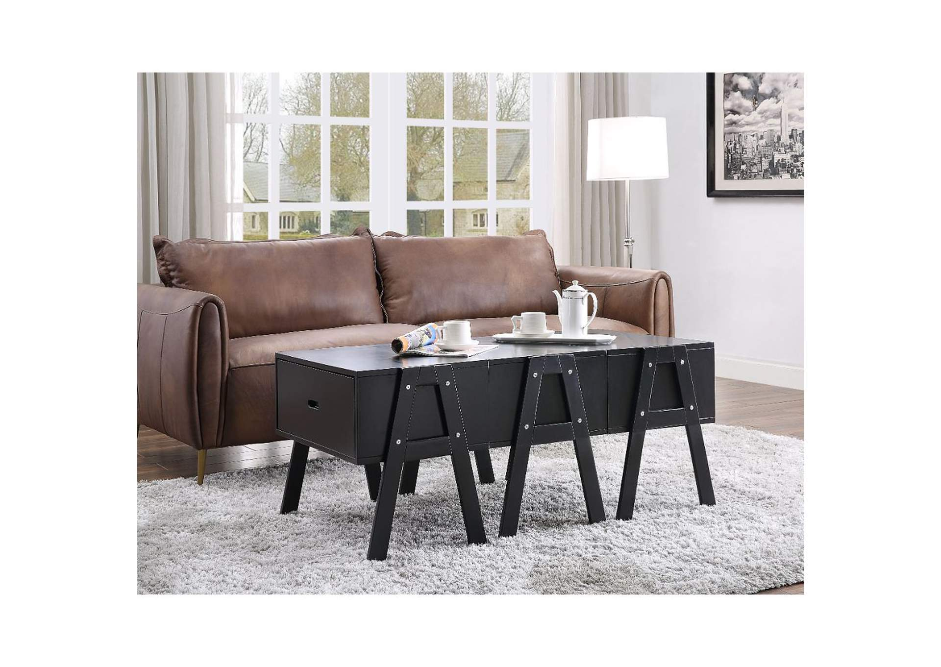 Lonny Black Coffee Table,Acme