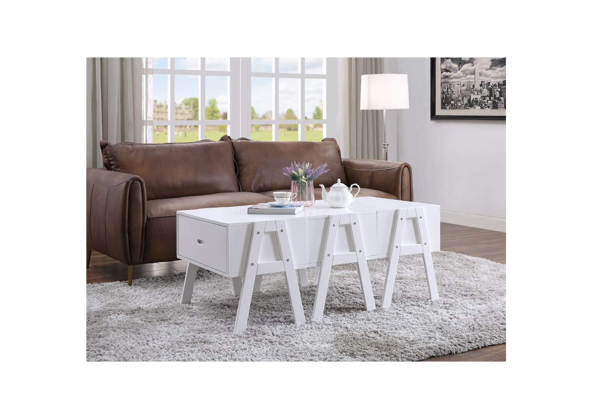 Lonny White Coffee Table,Acme