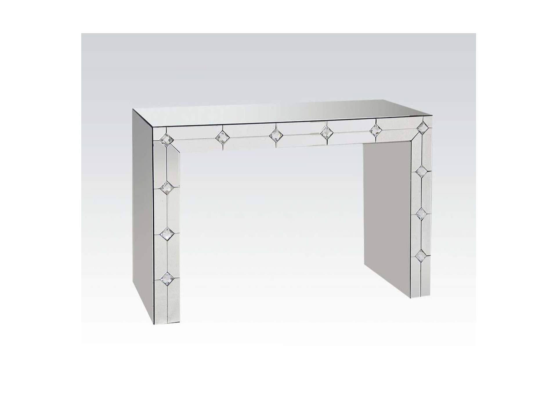 Hessa Mirrored & Faux Rhinestone Accent Table,Acme