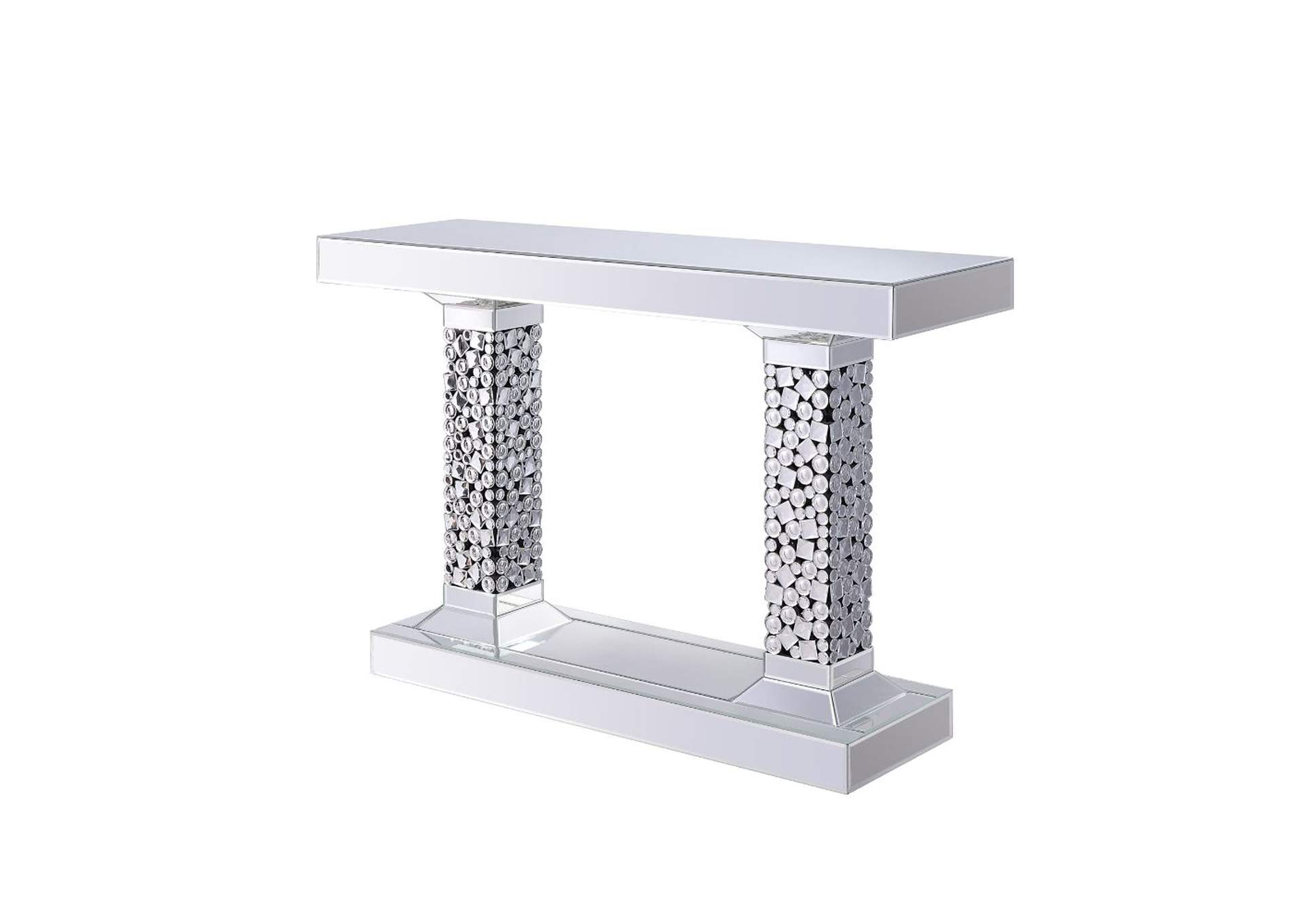 Kachina Mirrored & Faux Gems Accent Table,Acme