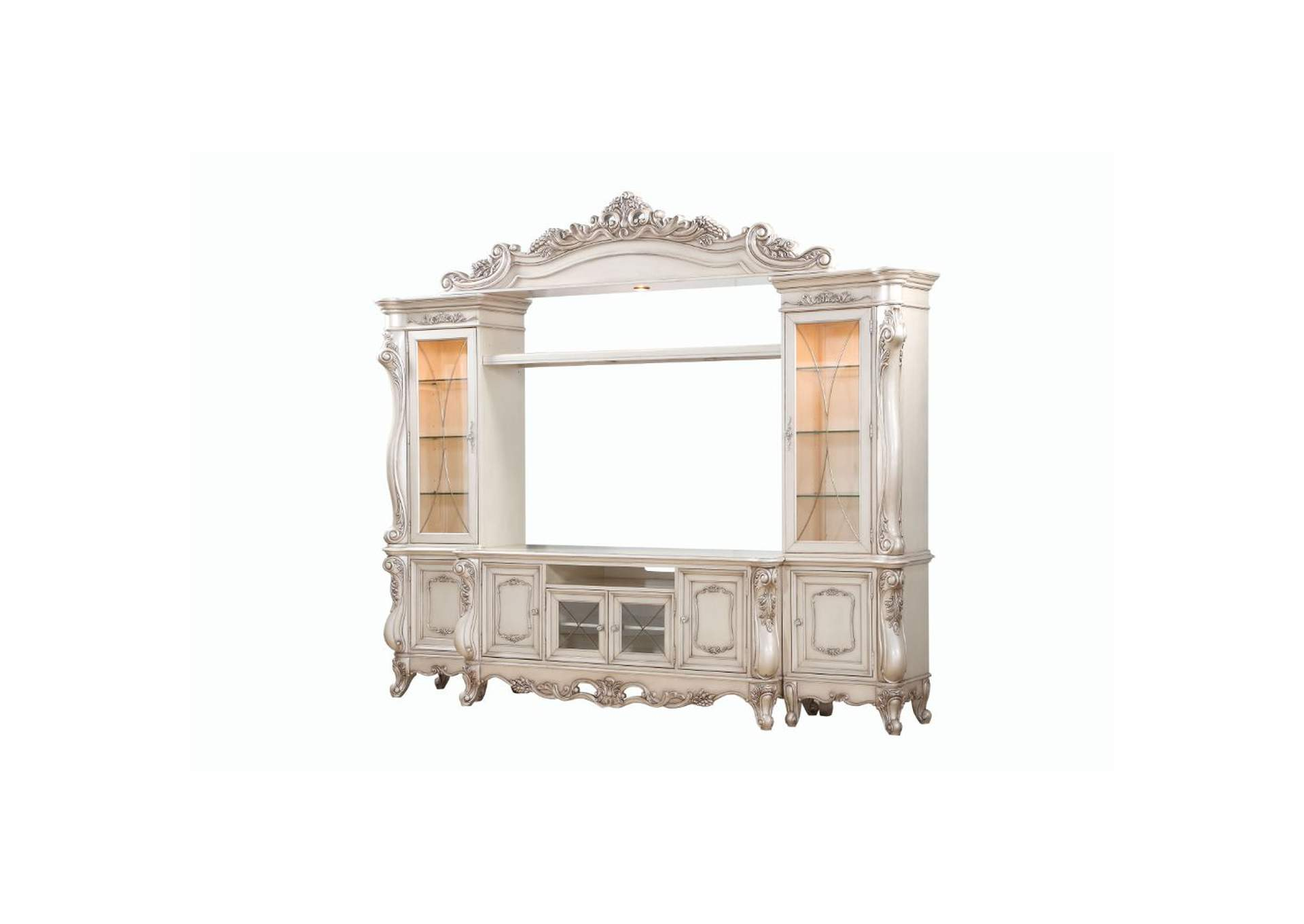 Gorsedd Antique White Entertainment Center,Acme