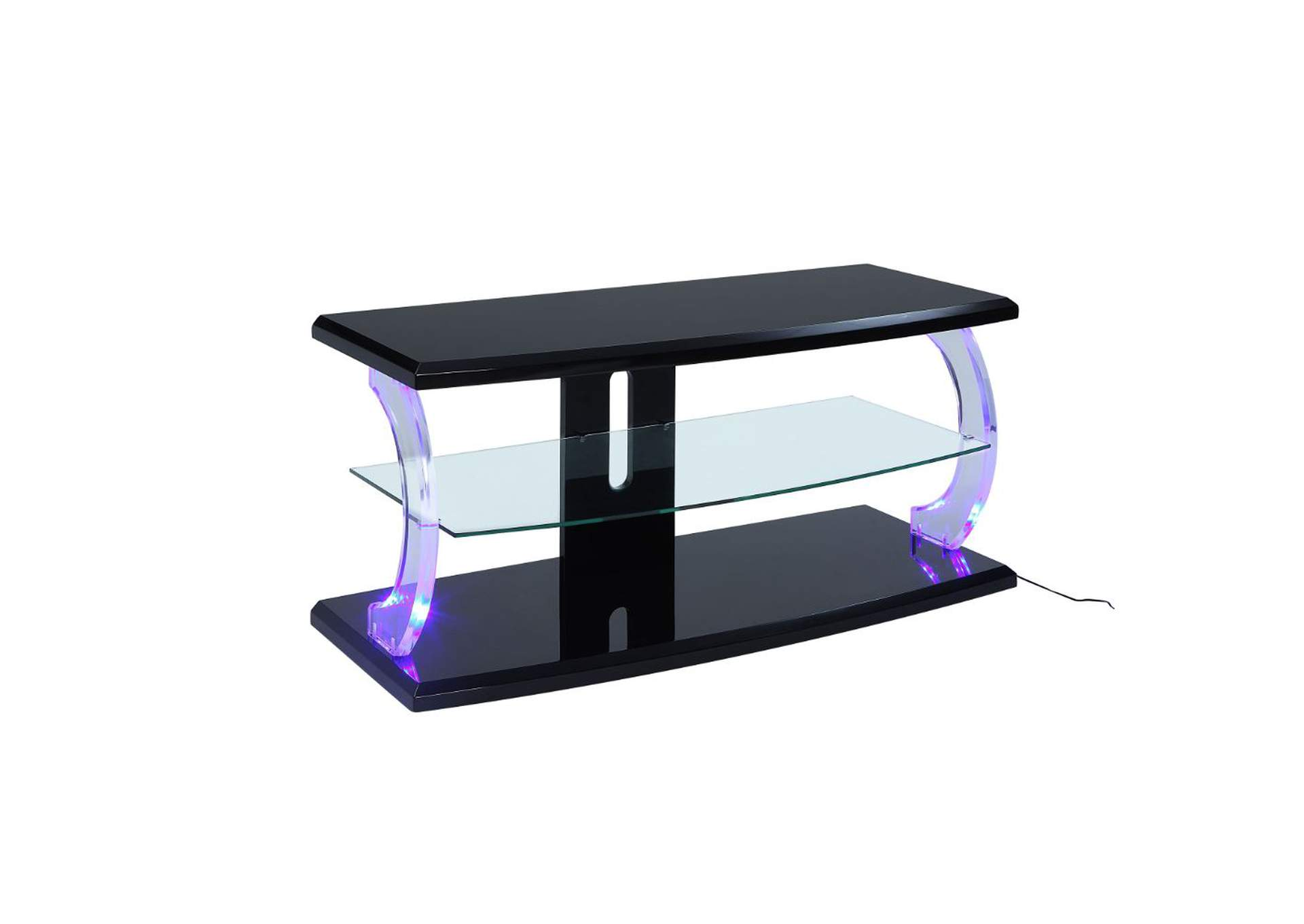 Aileen Black & Clear Glass TV Stand,Acme