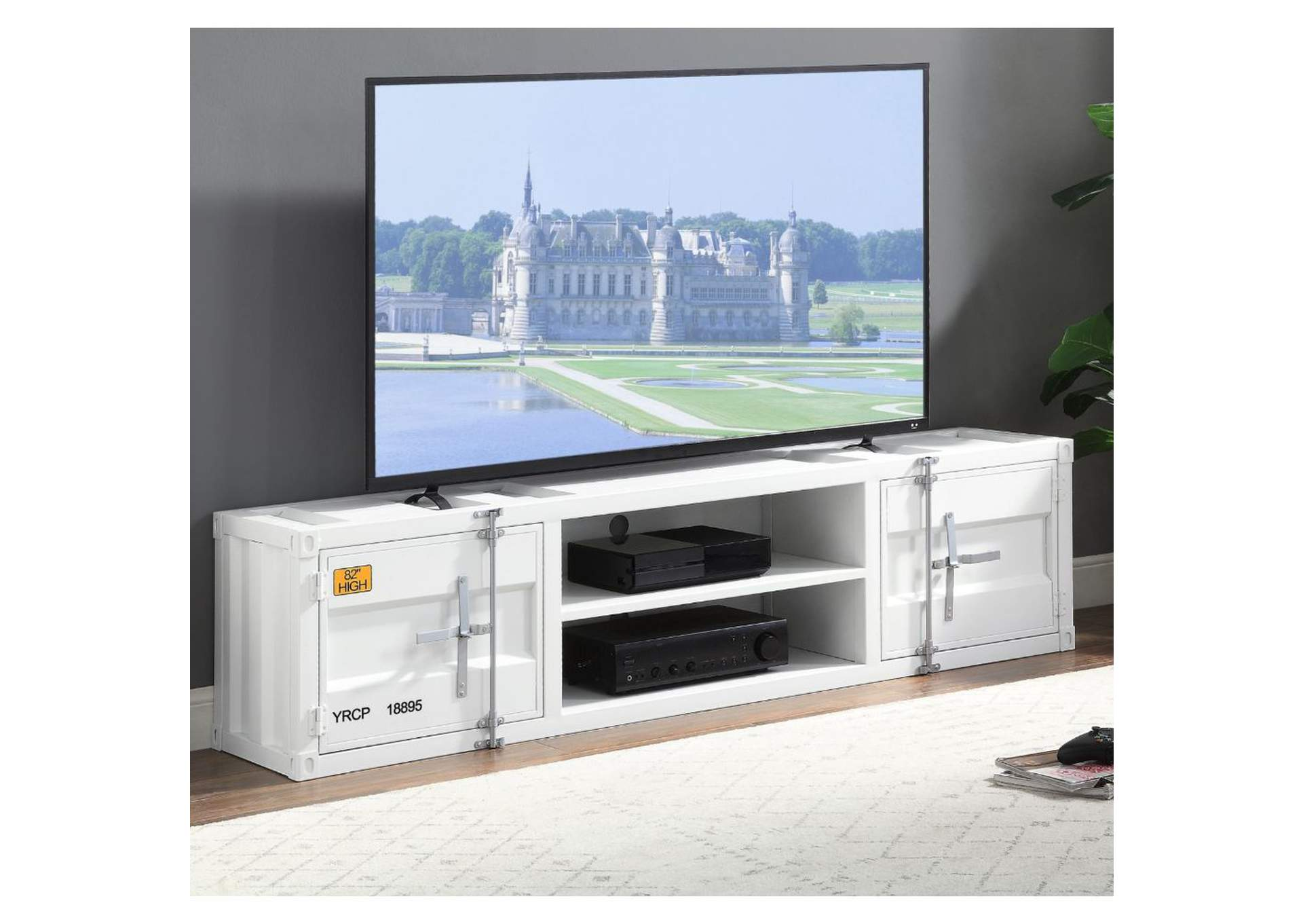 Cargo White TV Stand,Acme