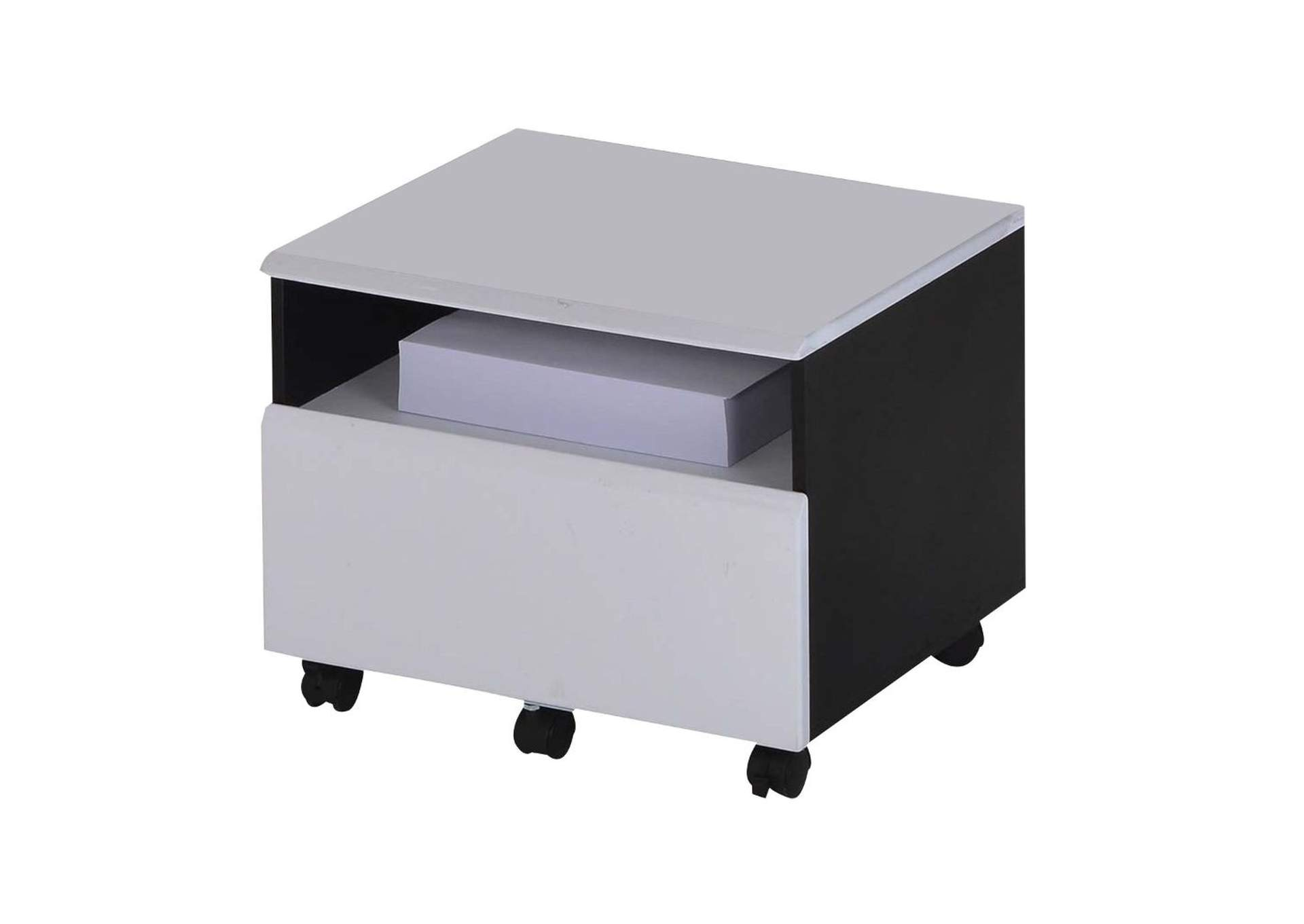 Ellis Black & White File Cabinet,Acme
