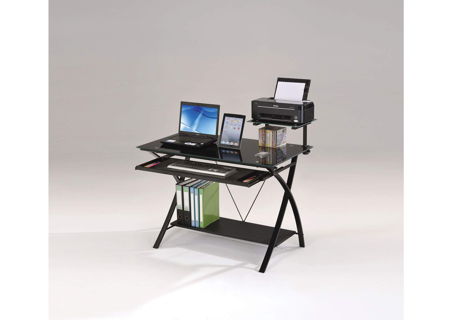 Erma Black Computer Desk,Acme
