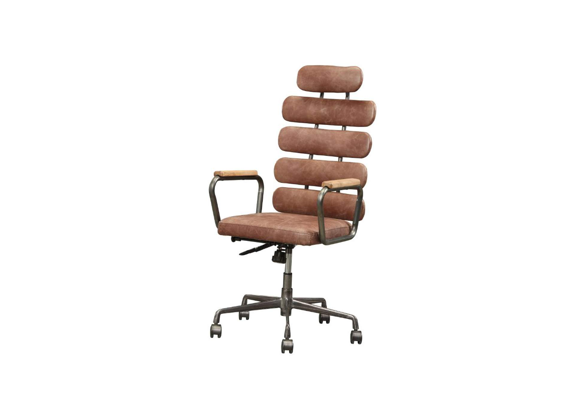 Calan Vintage Whiskey Top Grain Leather Executive Office Chair,Acme