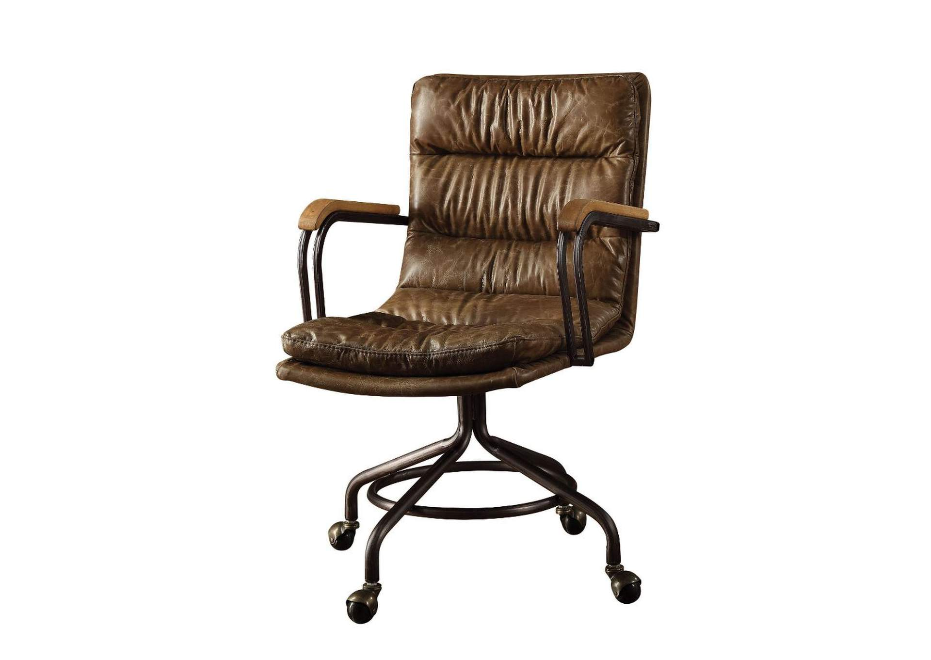 Harith Vintage Whiskey Top Grain Leather Executive Office Chair,Acme