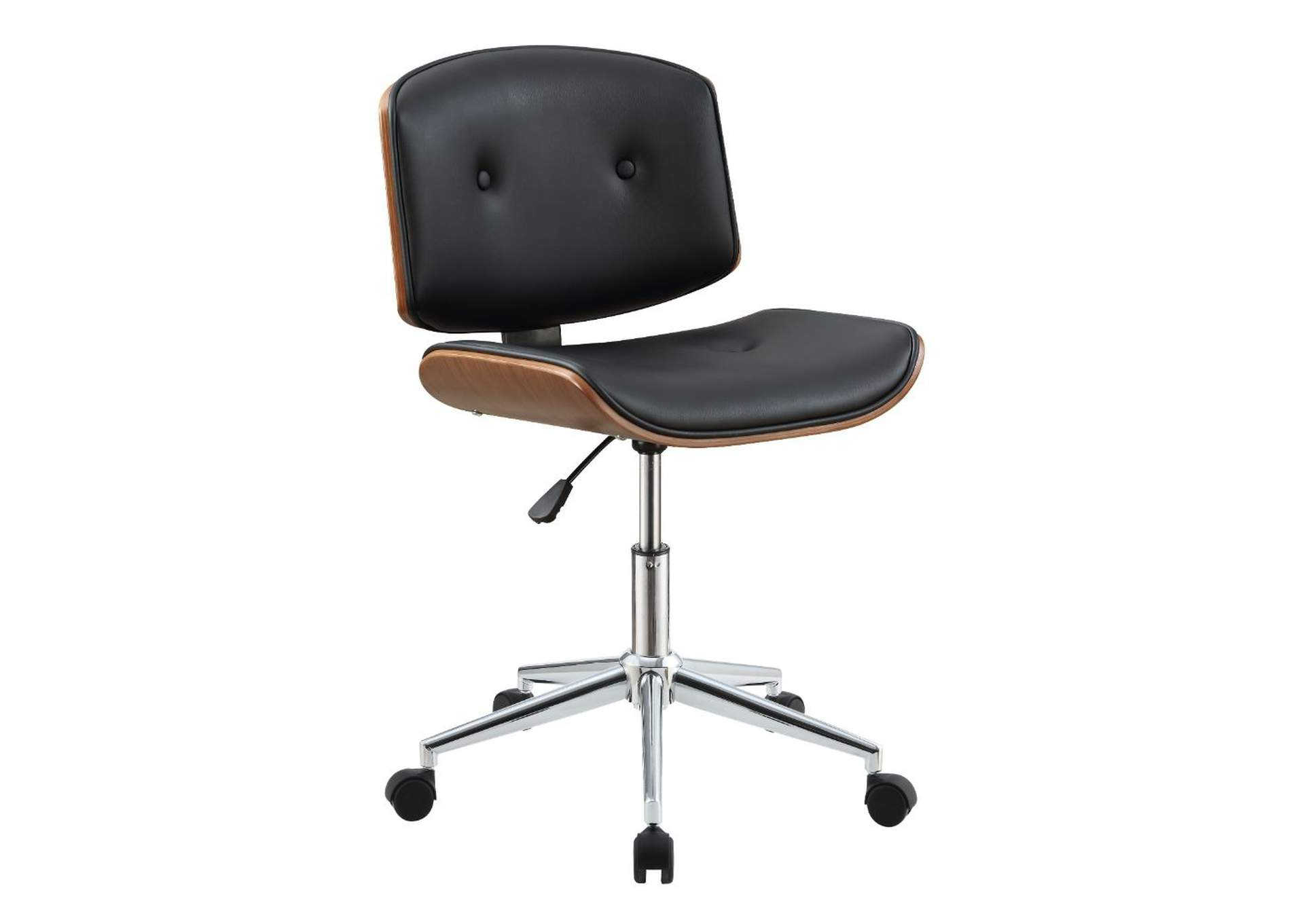 Camila Black PU & Walnut Office Chair,Acme