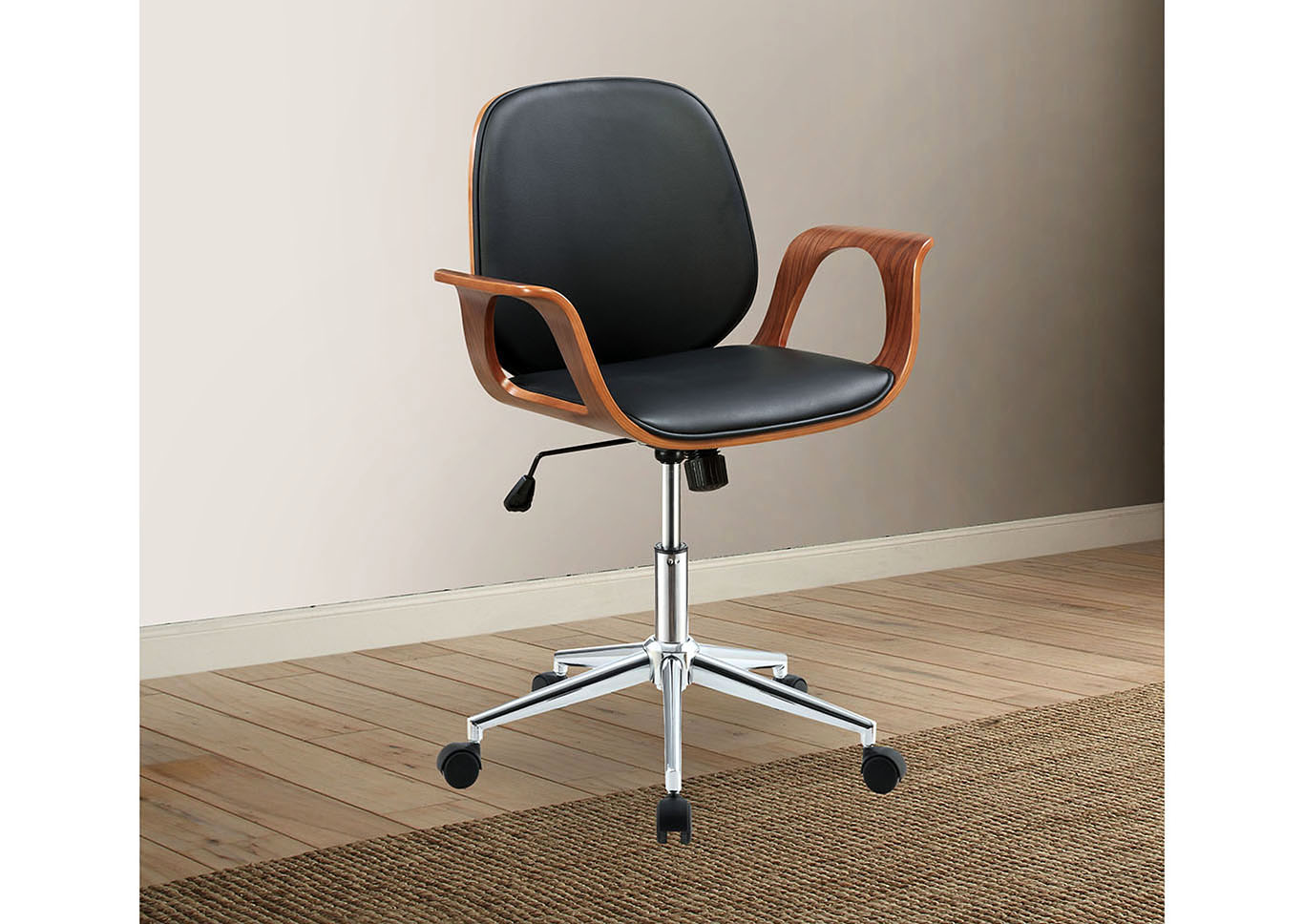 Camila Black/Walnut Office Chair,Acme