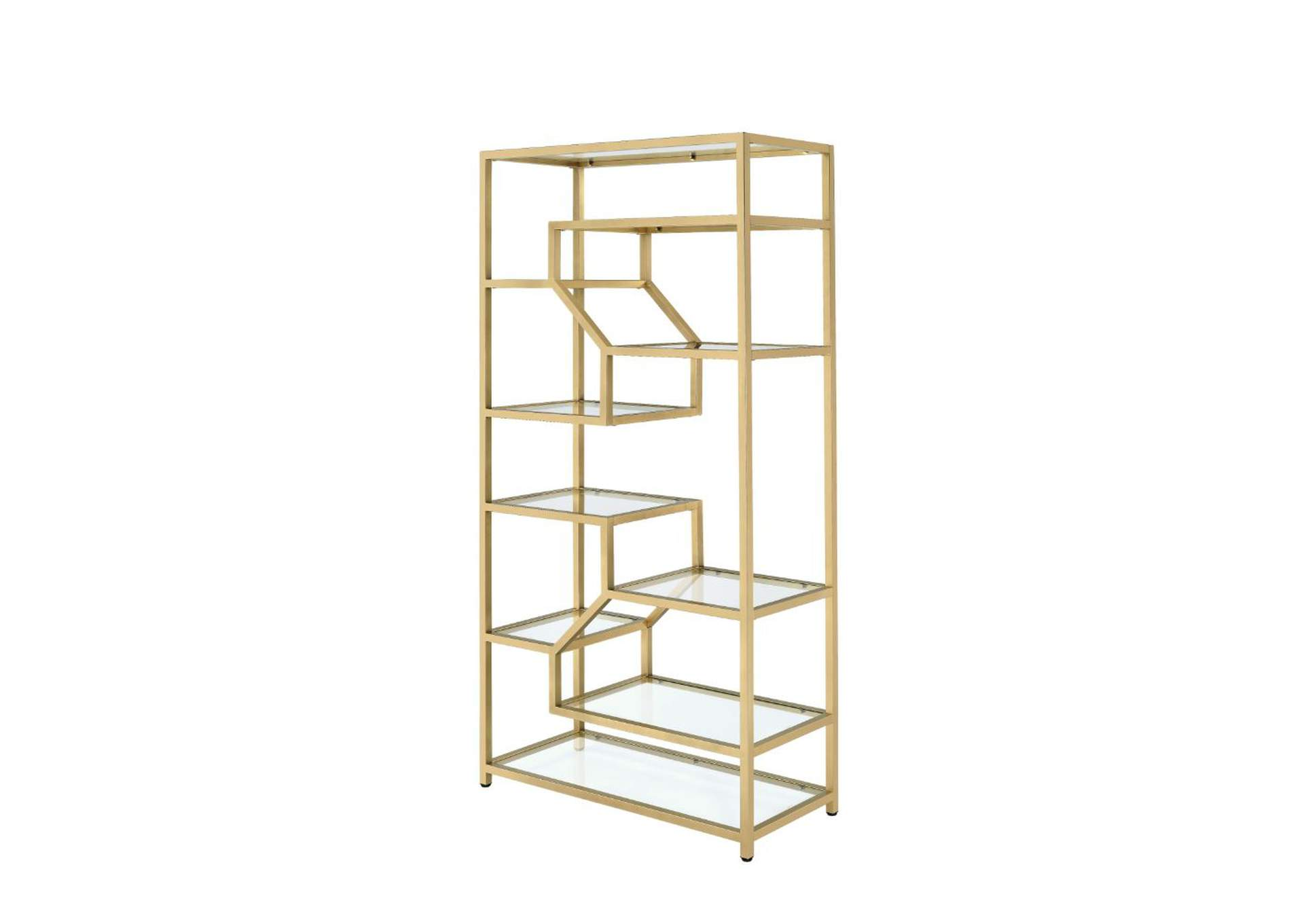Lecanga Gold Bookshelf,Acme