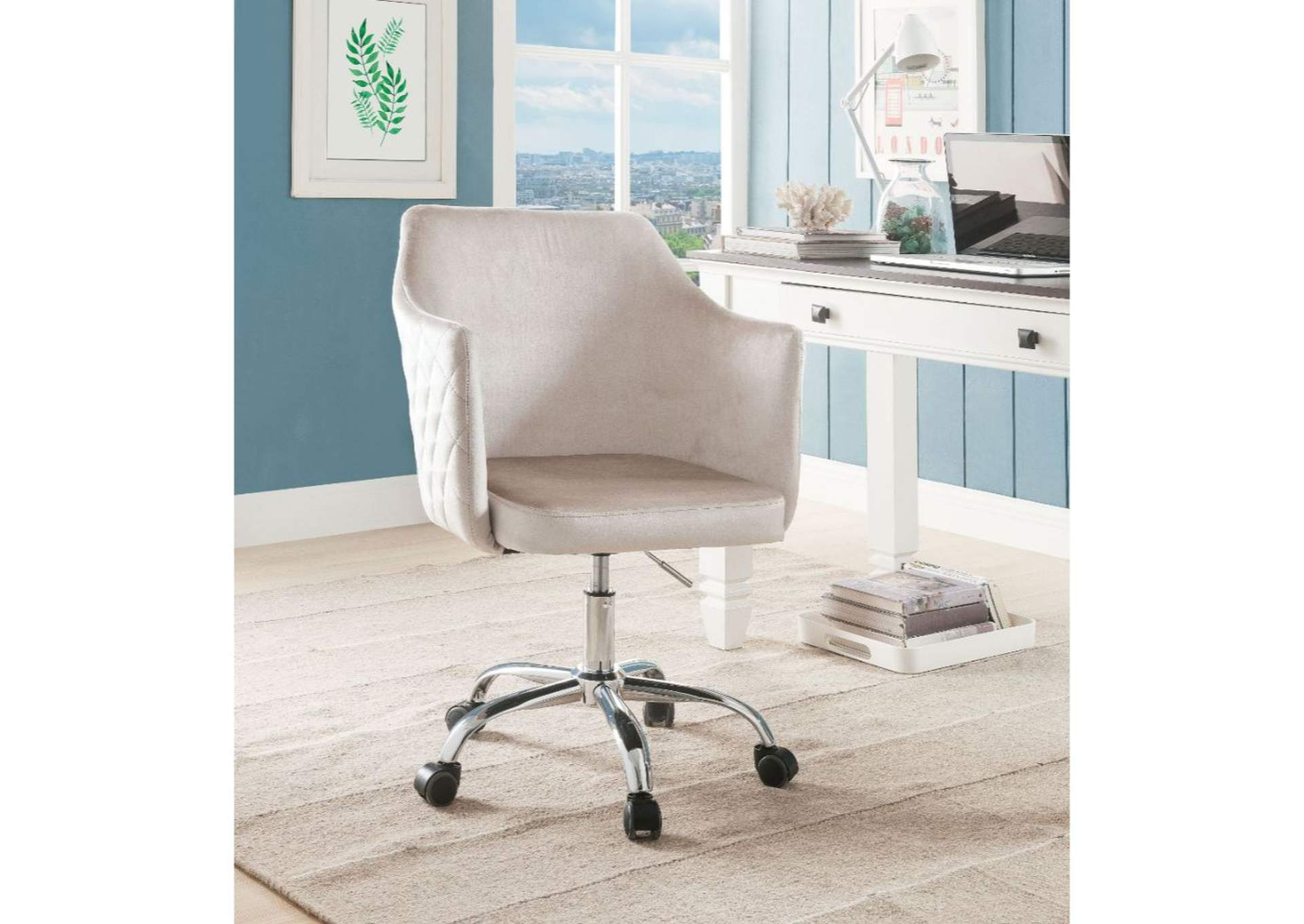 Cosgair Champagne/Chrome Office Chair,Acme
