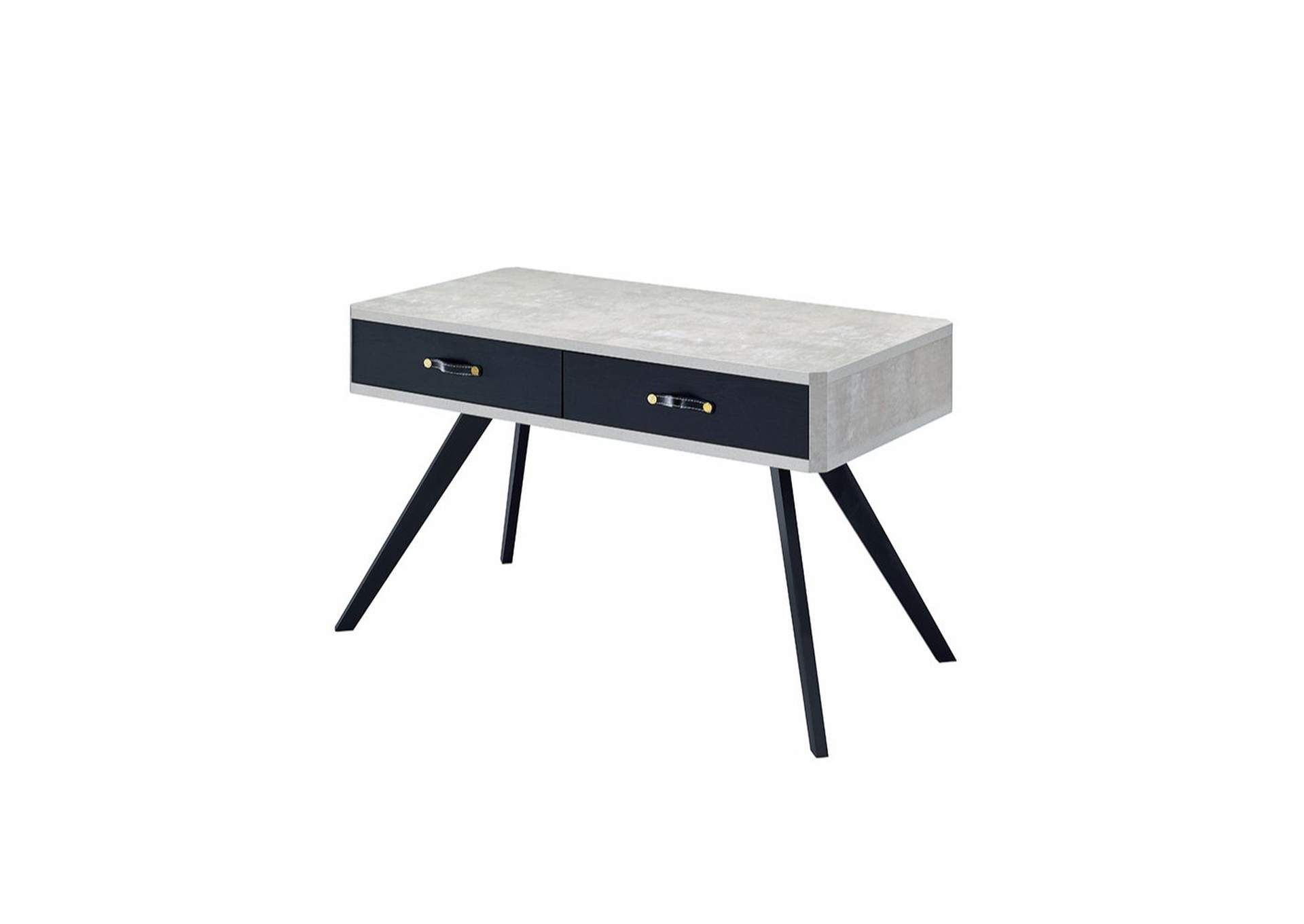 Magna Faux Concrete & Black Desk,Acme