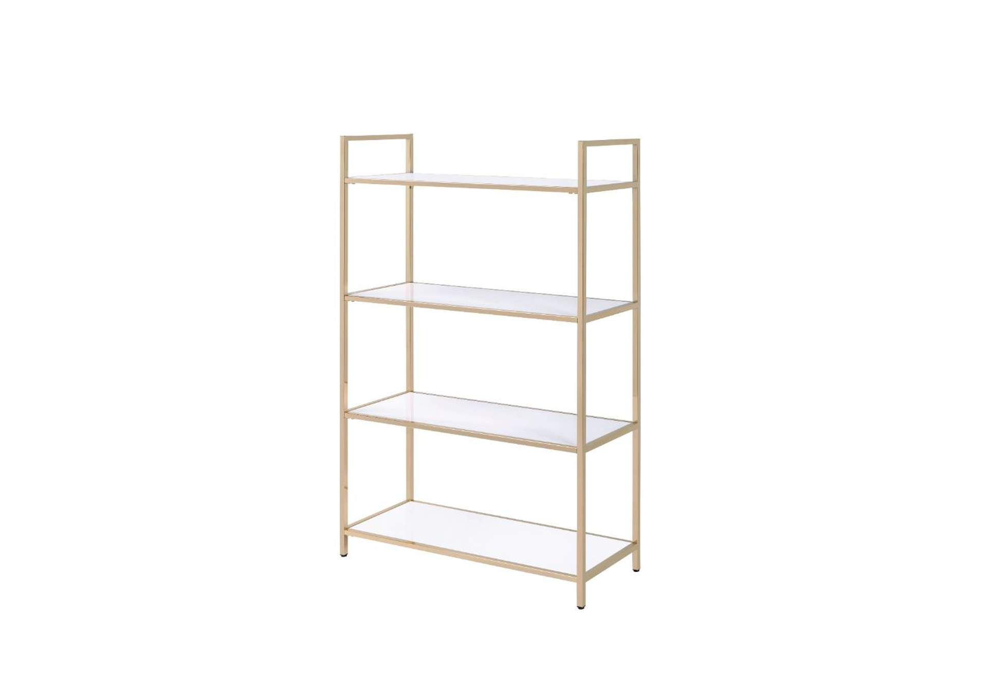 Ottey Gold Bookshelf,Acme