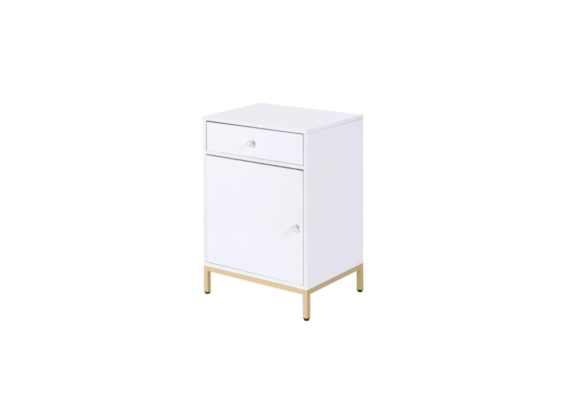 Ottey White/Gold Cabinet,Acme