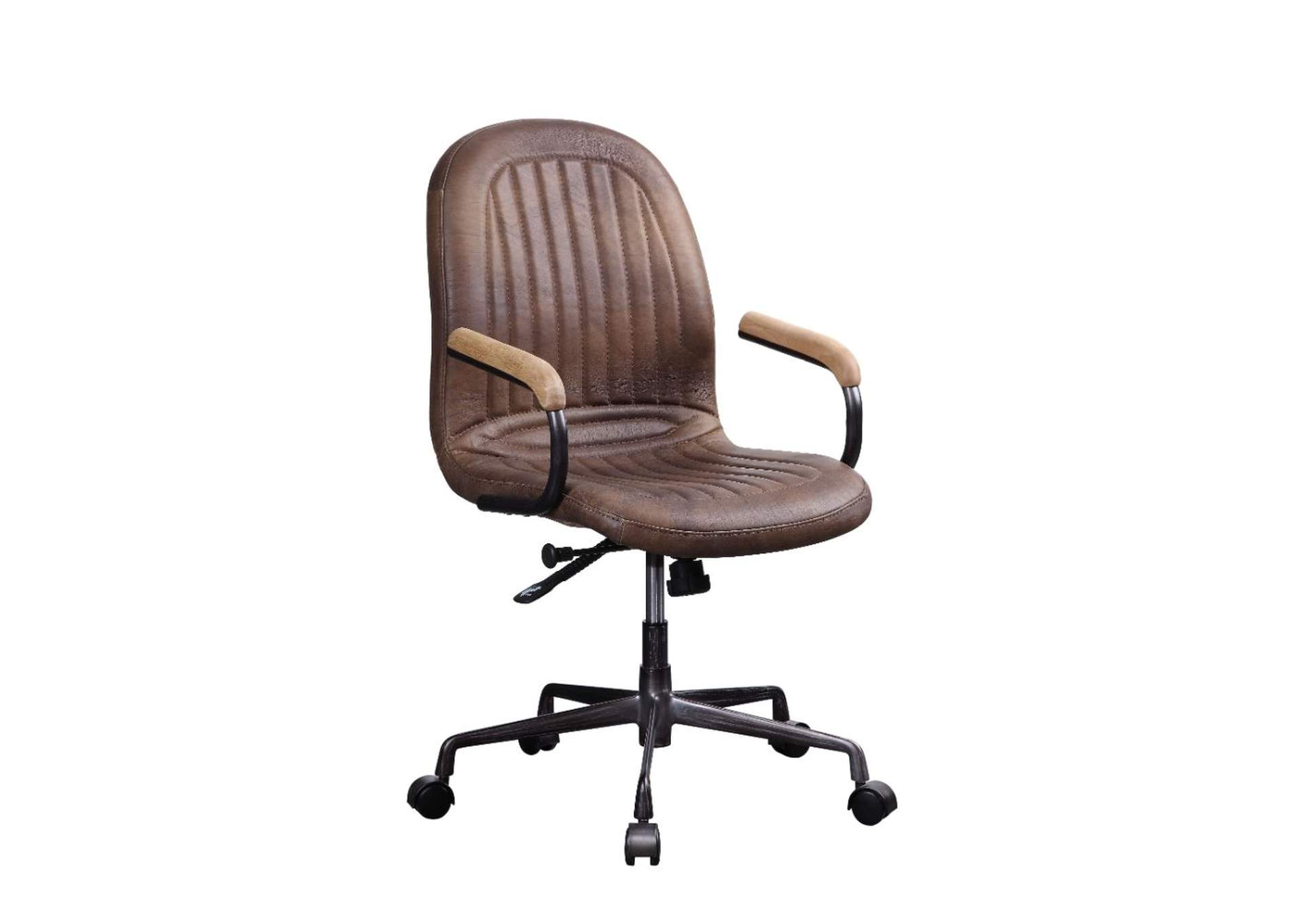 Acis Vintage Chocolate Top Grain Leather Executive Office Chair,Acme